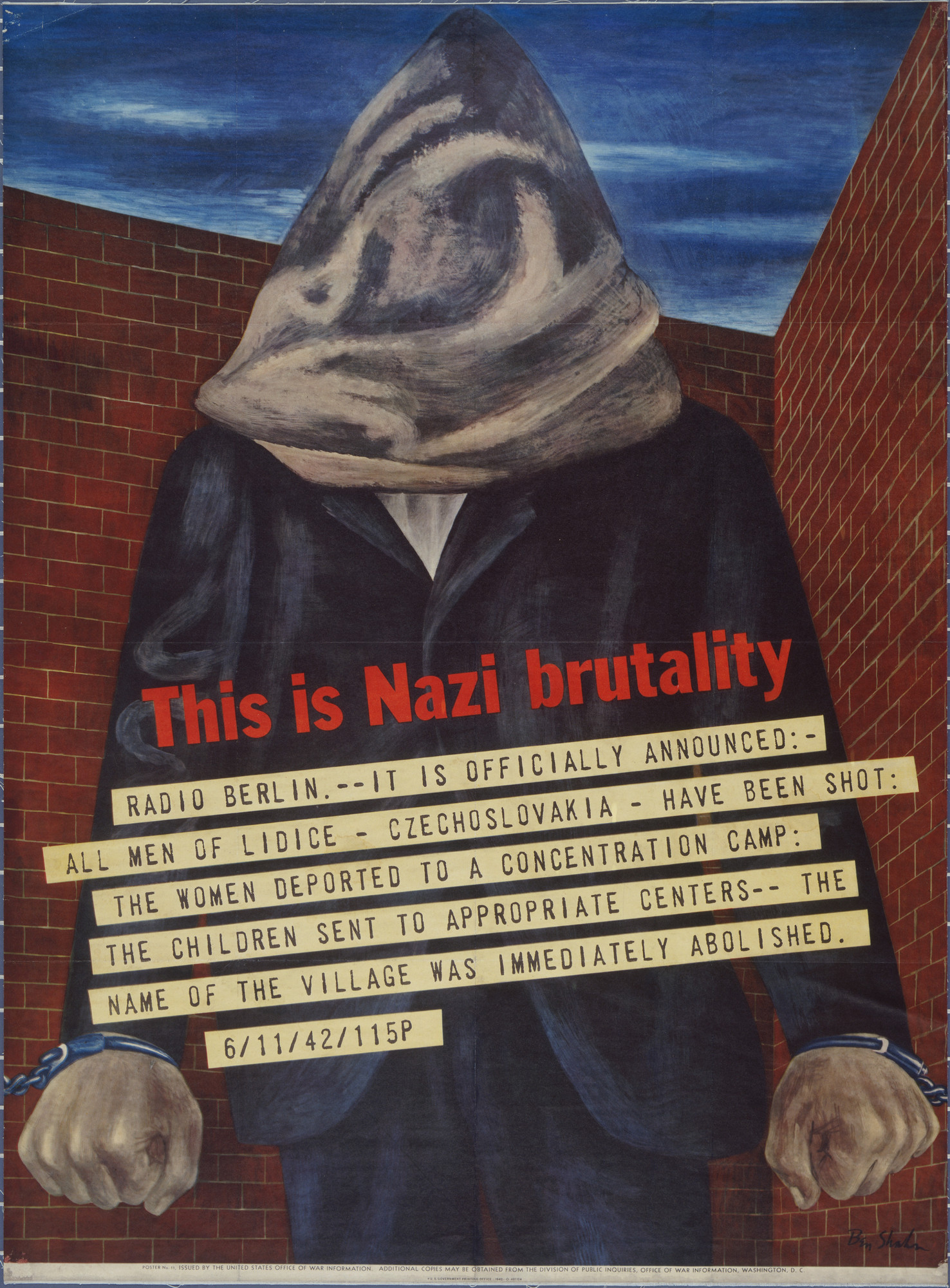 Ben Shahn. This is Nazi Brutality. 1943