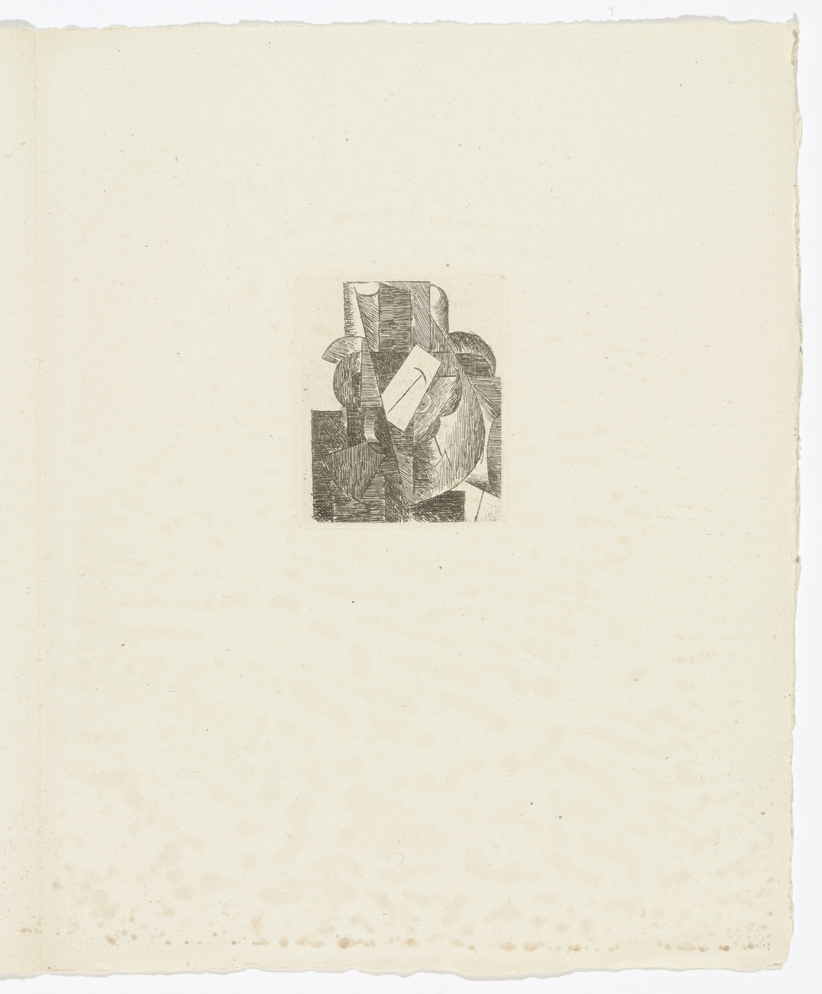 Pablo Picasso. L'Homme au chapeau (Man with a Hat) (plate, page, 3) from Du Cubisme (On Cubism). 1914, published 1947
