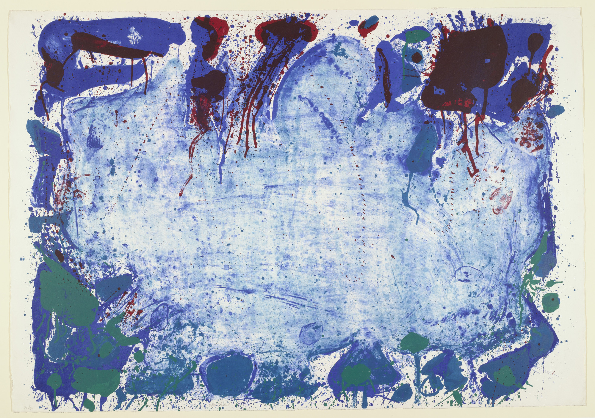 Sam Francis. Happy Death Stone. 1960