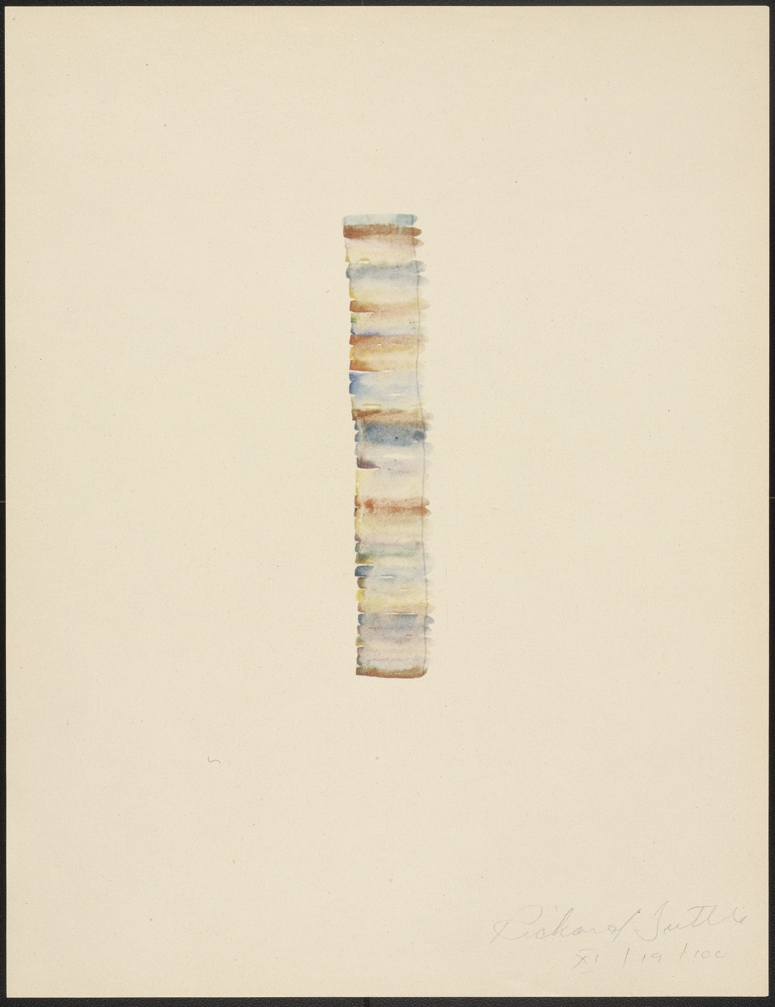 Richard Tuttle. XI from Stacked Color Drawings, 1971. 1975
