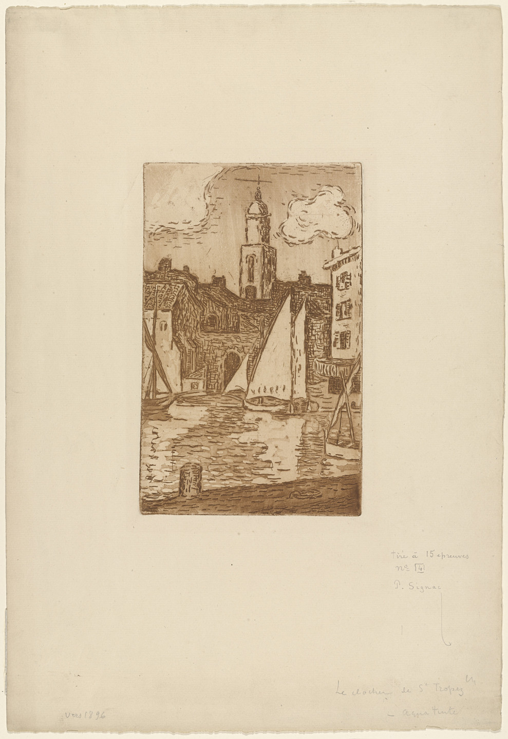 Paul Signac. Bell Tower of St. Tropez. (c. 1896)