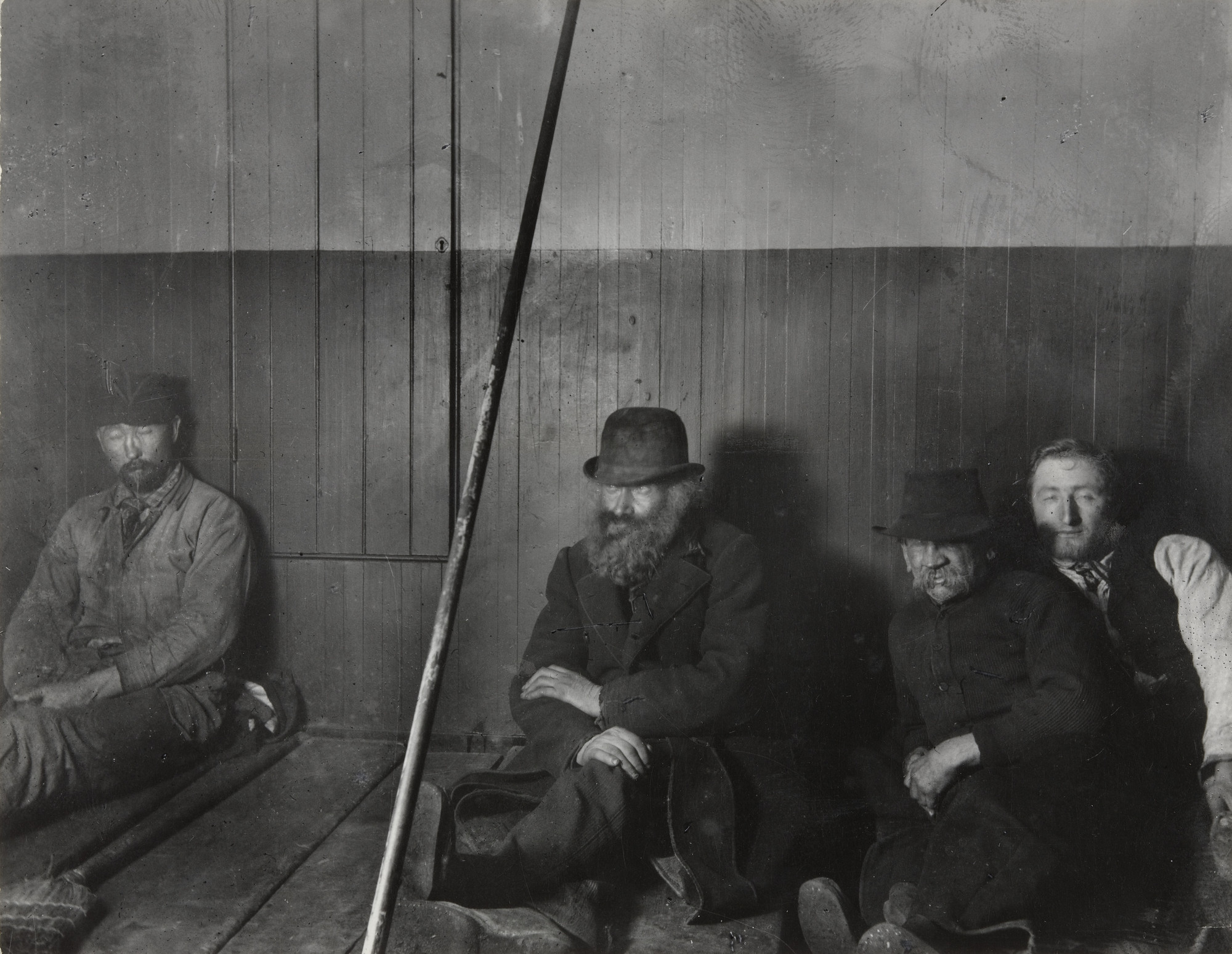 Jacob August Riis. Police Station Lodgers in Oak Street Station. 1890