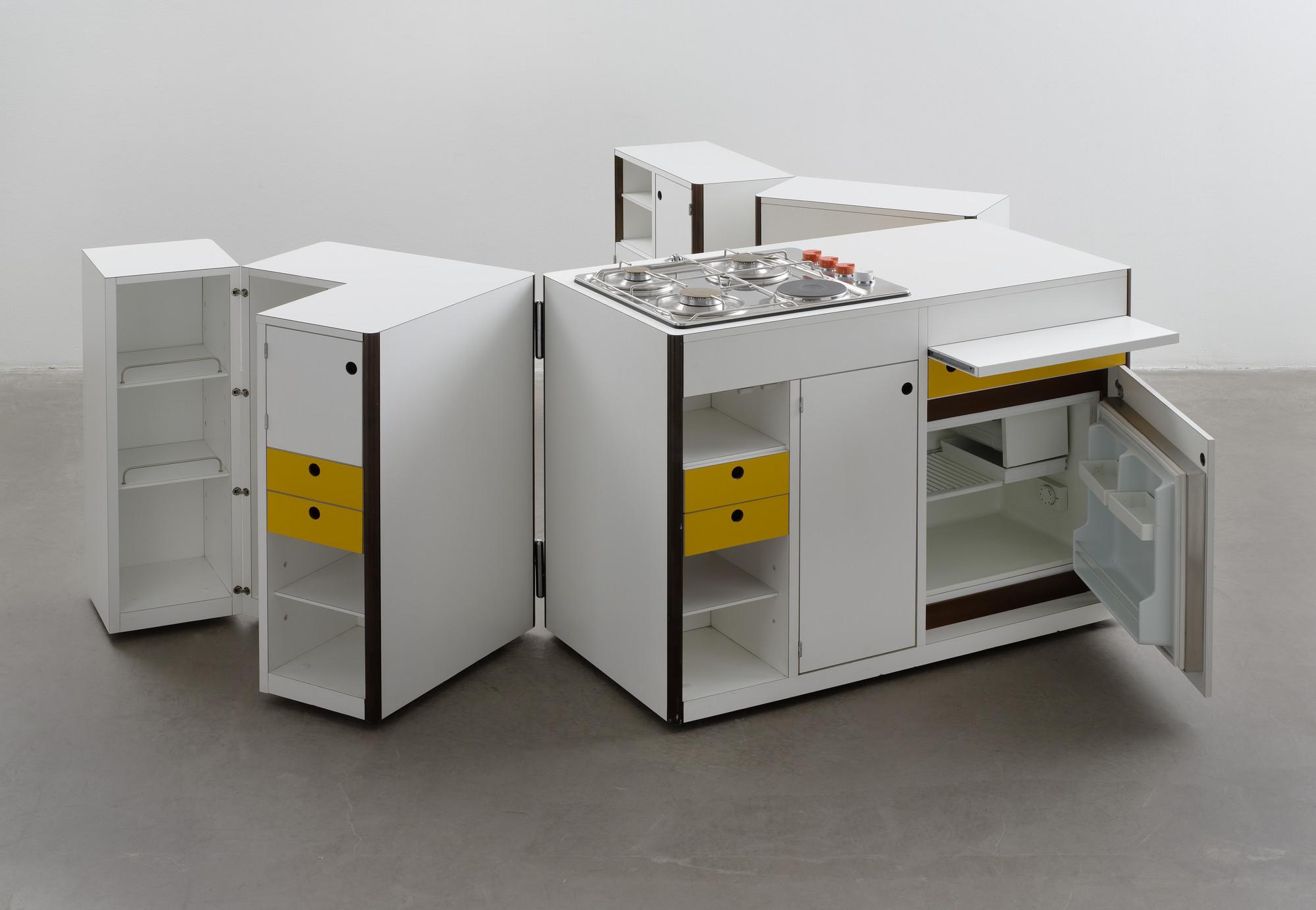 Virgilio Forchiassin Spazio Vivo Living Space Mobile Kitchen Unit Mobile Kitchen Unit 1968 Moma