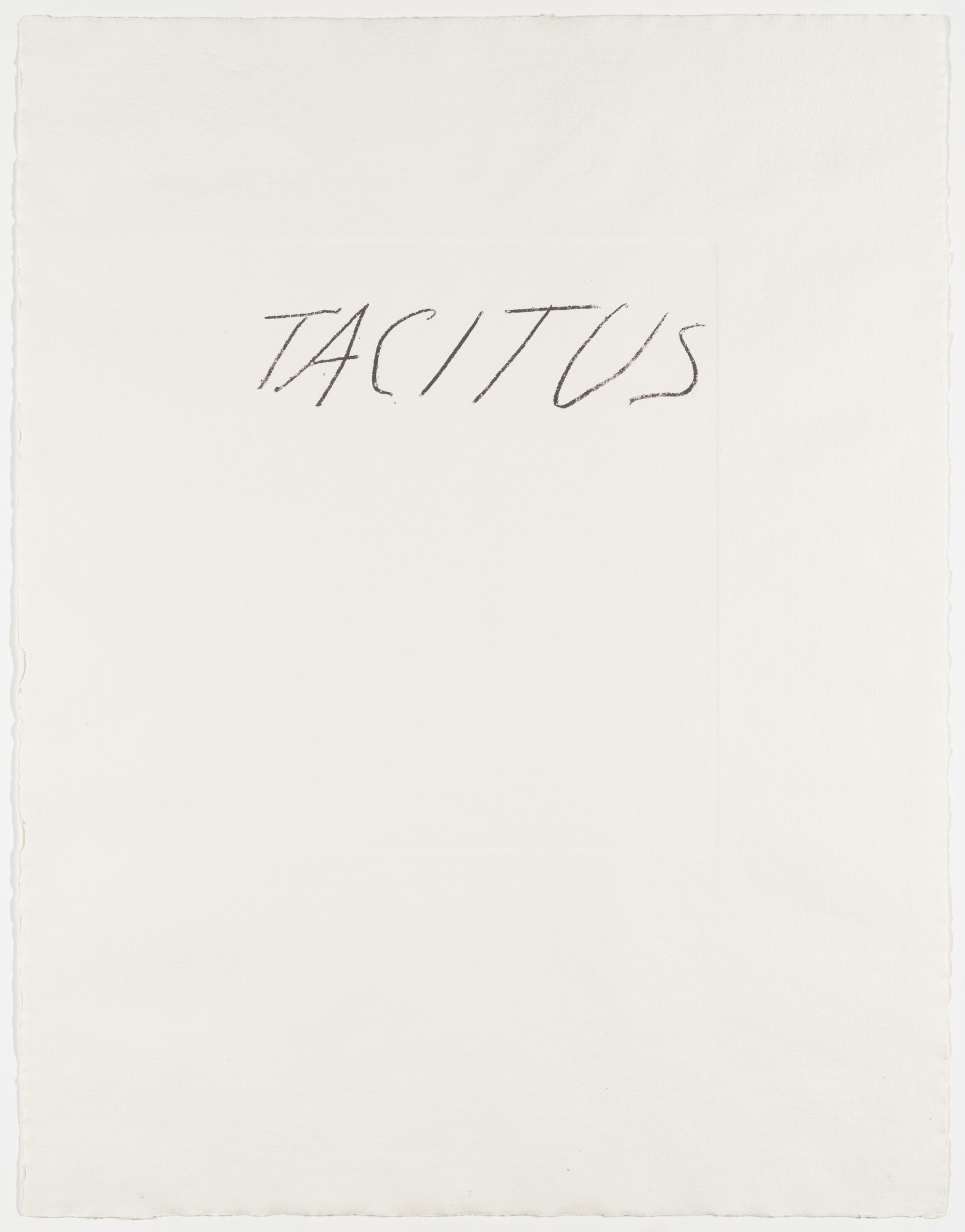 Cy Twombly. Tacitus from the portfolio Six Latin Writers and Poets. 1975-1976