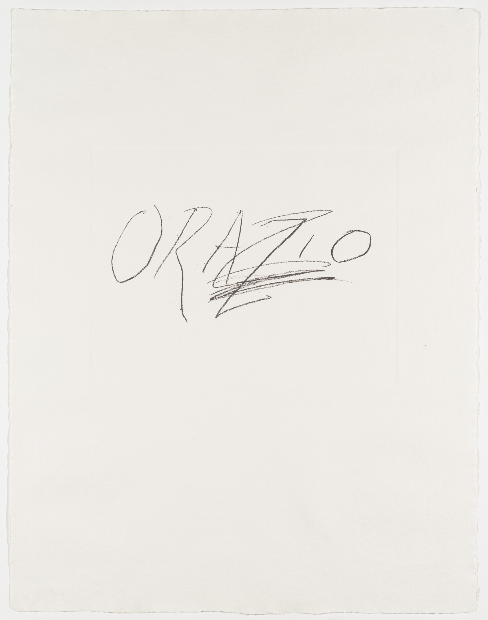 Cy Twombly, Propyläen-Verlag, Berlin. Orazio from the portfolio Six Latin Writers and Poets. 1975-1976