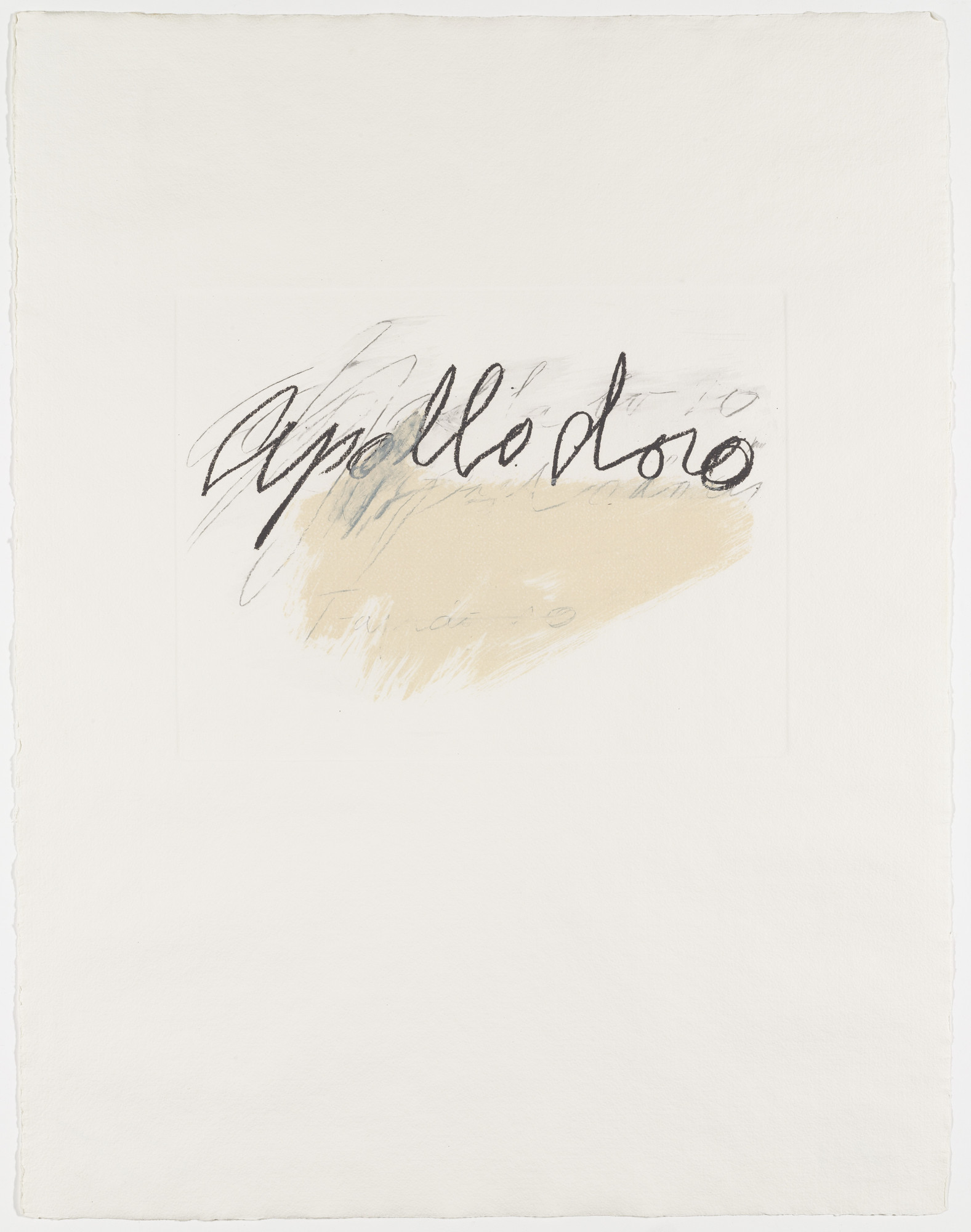 Cy Twombly. Apollodoro from the portfolio Six Latin Writers and Poets. 1975-1976