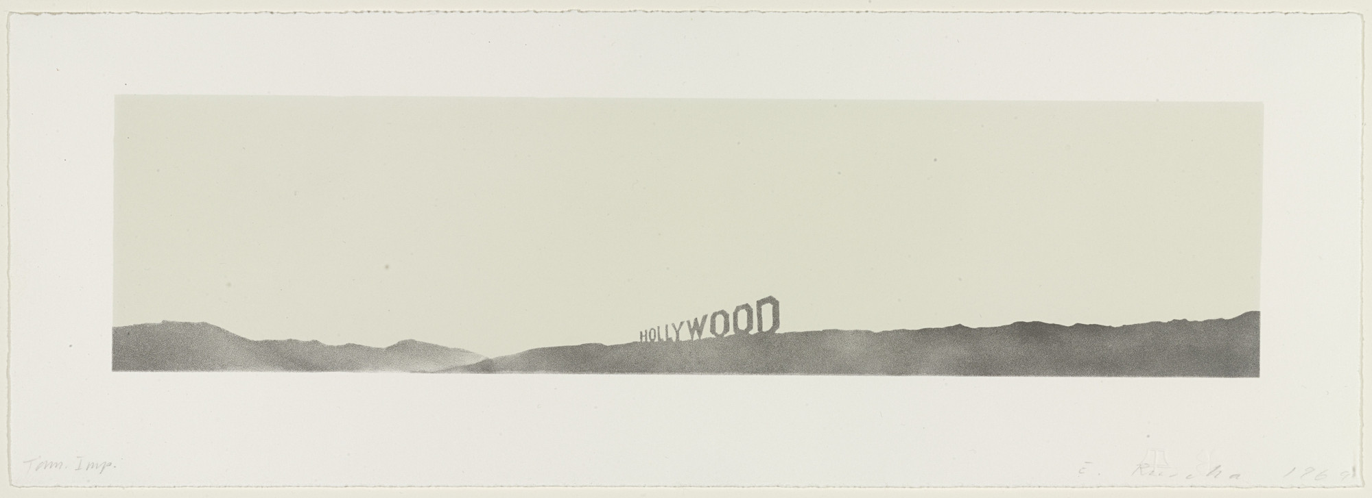 Edward Ruscha. Hollywood. 1969