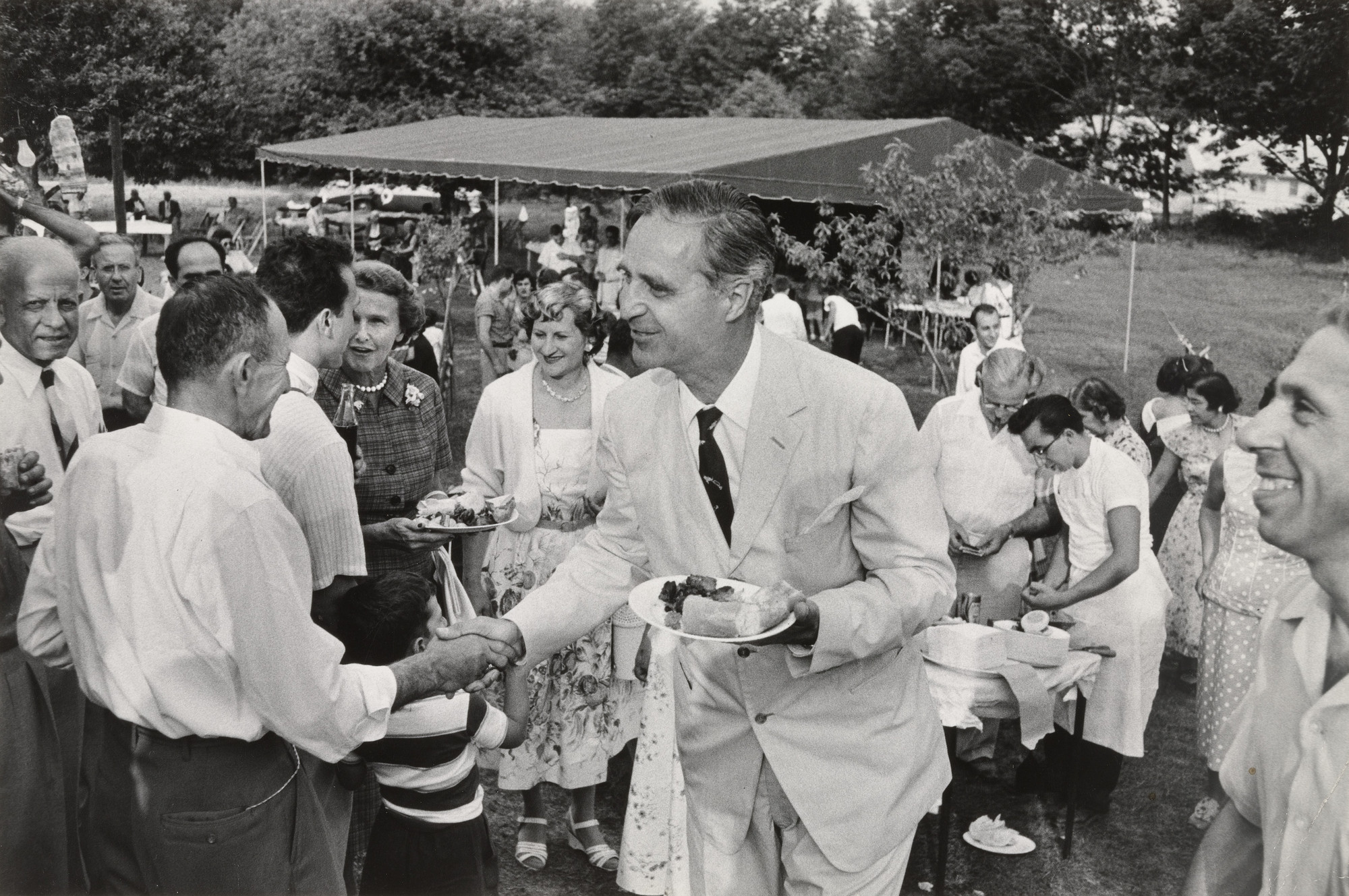 Dan Weiner. Prescott Bush Campaigning for Senator, Connecticut. 1956