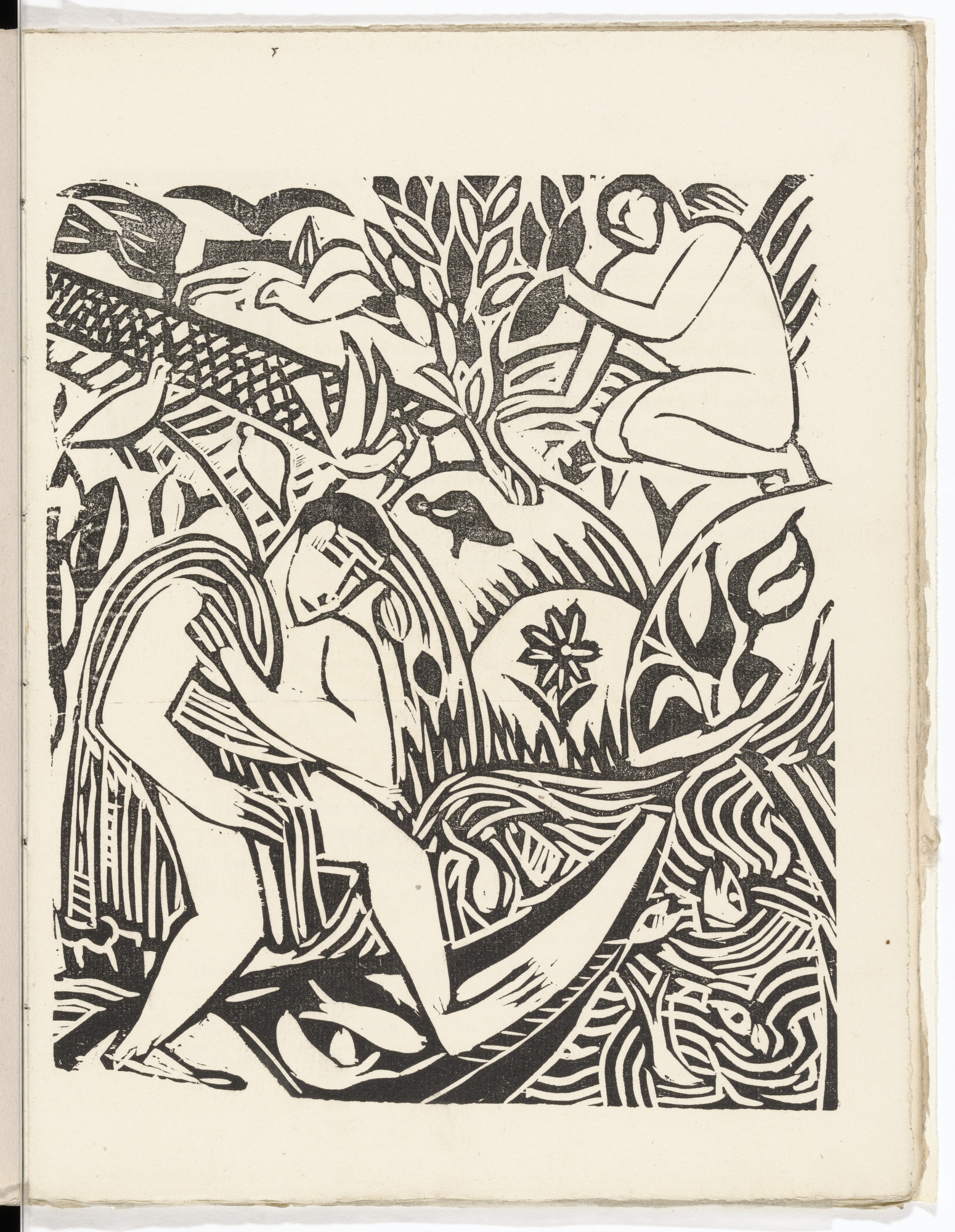 André Derain. Plate (folio 26) from L'Enchanteur pourrissant. 1909