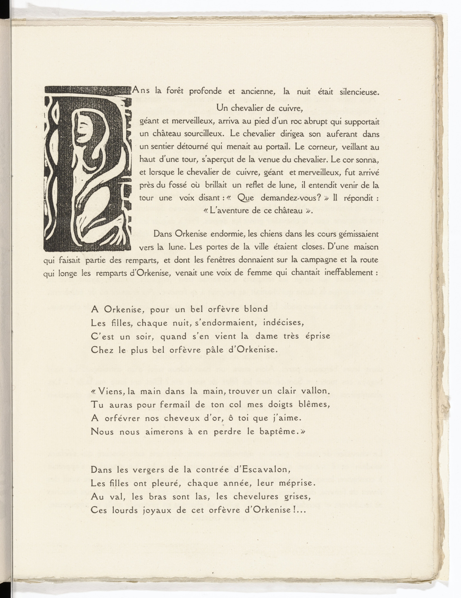 André Derain. Pictorial initial D (folio 27) from L'Enchanteur pourrissant. 1909