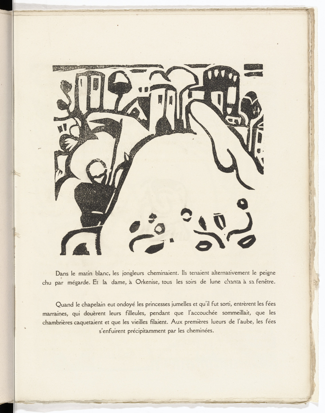 André Derain. In-text plate (folio 28) from L'Enchanteur pourrissant. 1909