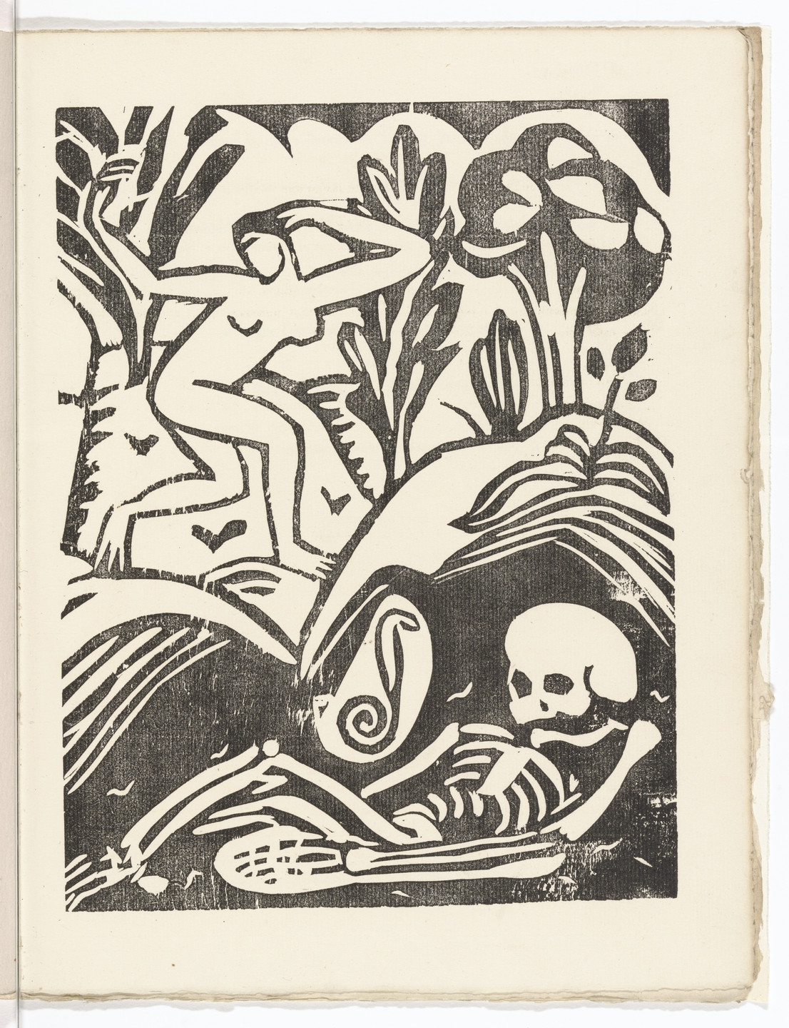 André Derain. Plate (folio 35) from L'Enchanteur pourrissant. 1909