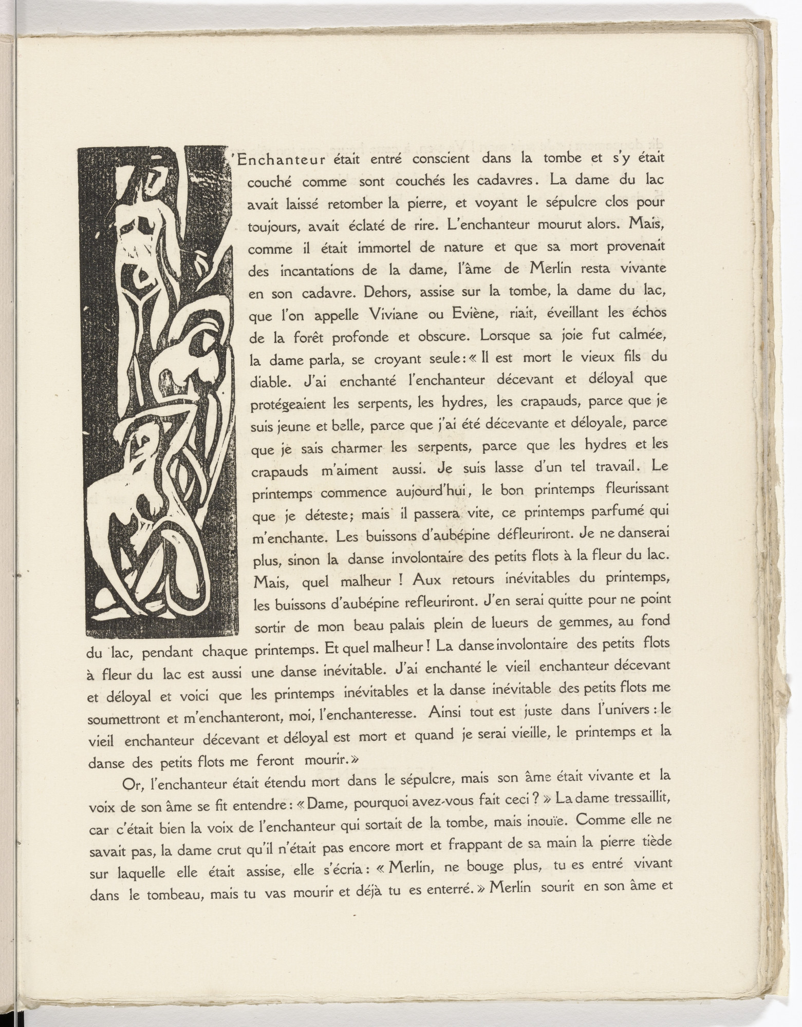André Derain. Pictorial initial L (folio 6) from L'Enchanteur pourrissant. 1909