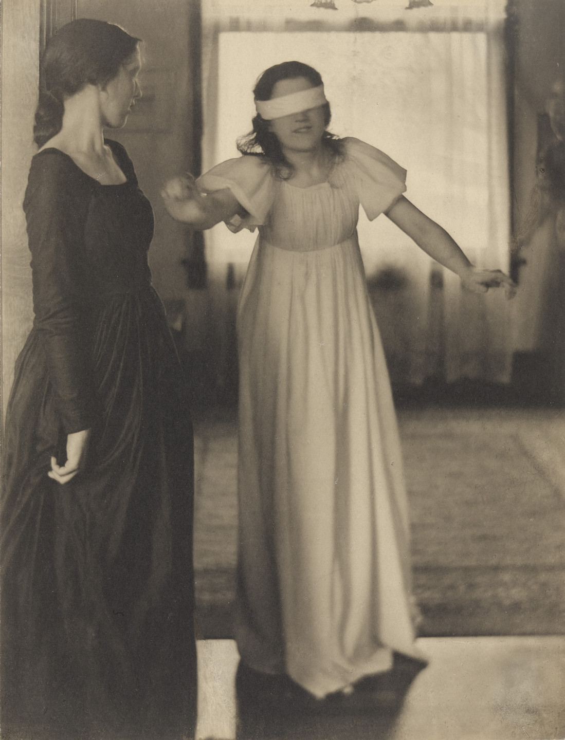 Clarence H. White. Blindman's Buff. 1898