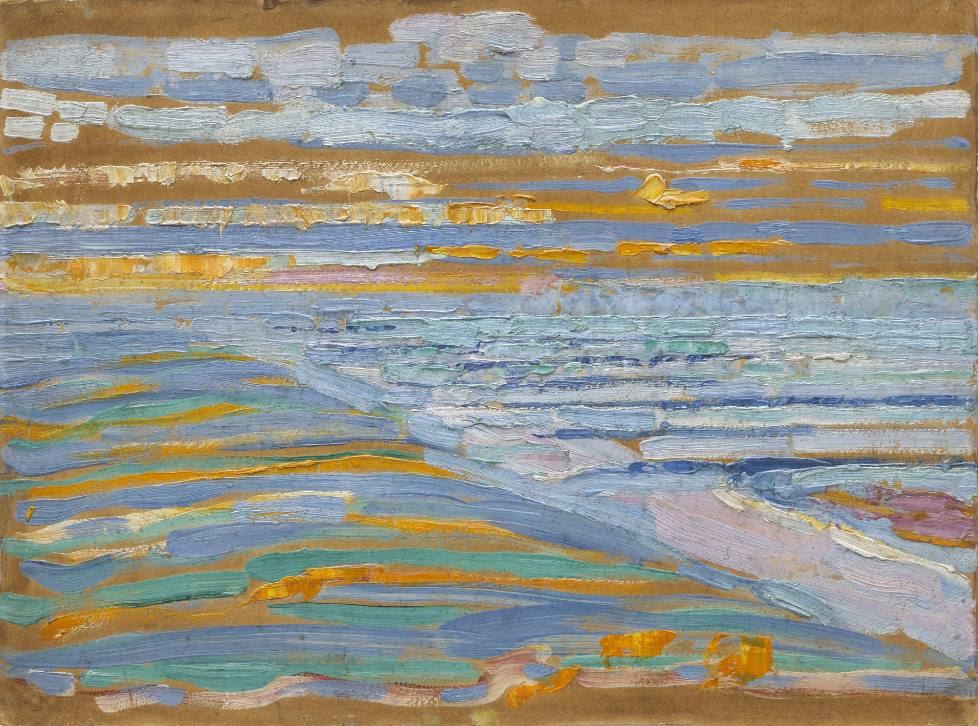 Piet Mondrian. View from the Dunes with Beach and Piers, Domburg. 1909
