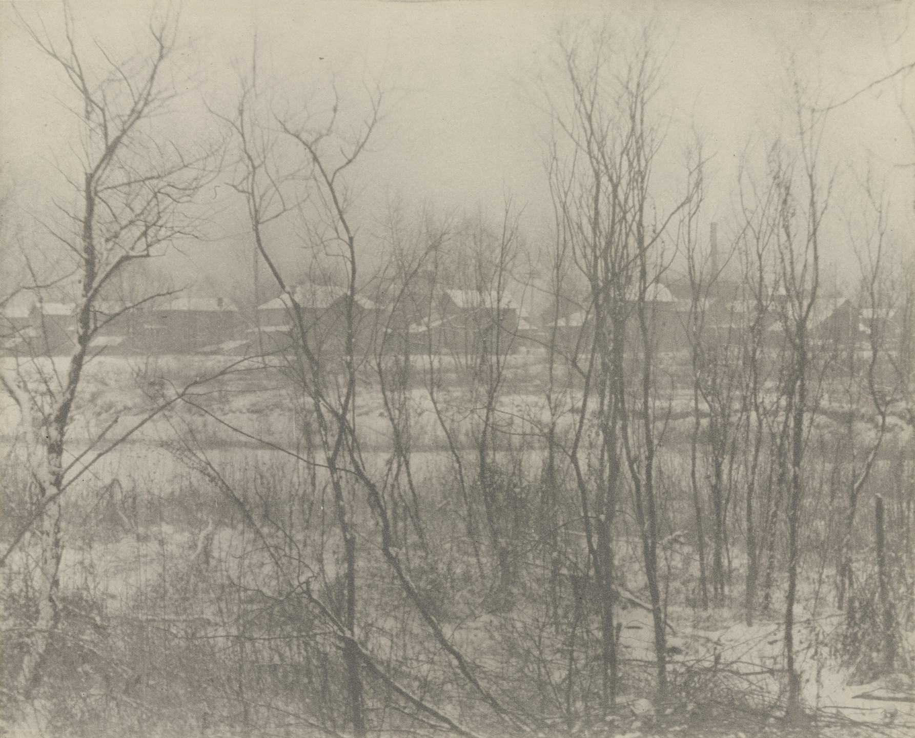Clarence H. White. Factory Town in Winter. 1906