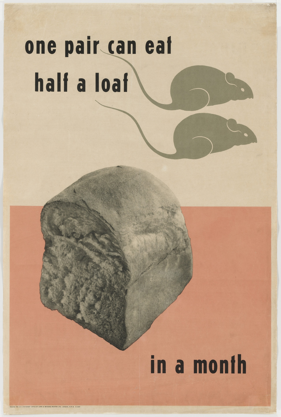 Herbert Tomlinson. One Pair Can Eat Half a Loaf in a Month. c.1941