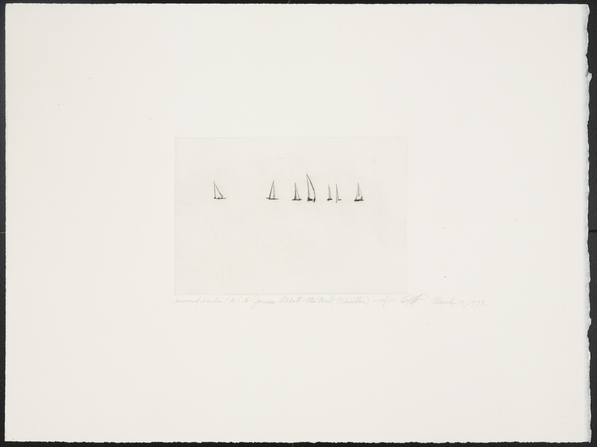 Dan Flavin. Second Sails 4 from Second Sails (To James Abbott McNeill Whistler). 1978