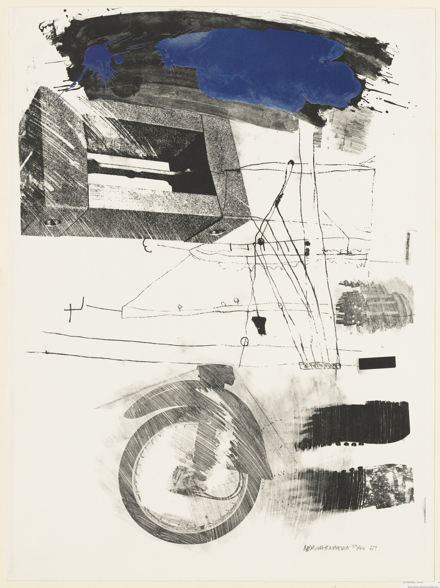 Robert Rauschenberg. Test Stone #6 (Blue Cloud) from Booster and 7 Studies. 1967