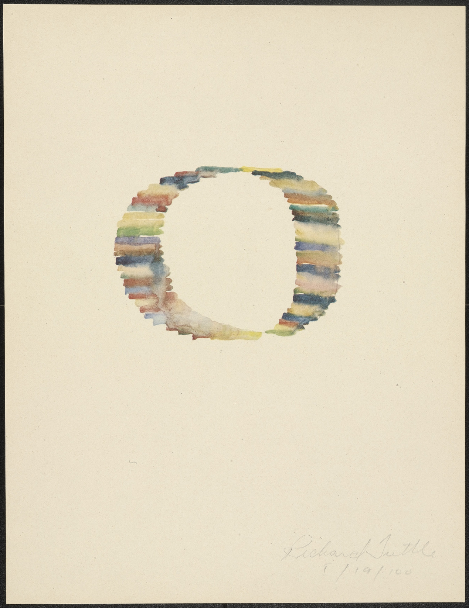 Richard Tuttle. I from Stacked Color Drawings, 1971. 1975