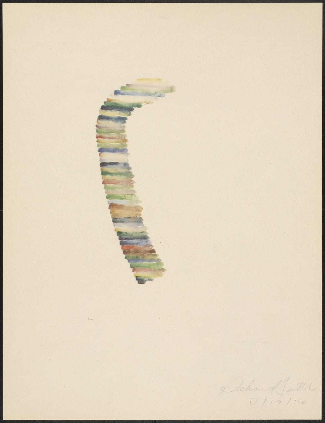 Richard Tuttle. V from Stacked Color Drawings, 1971. 1975