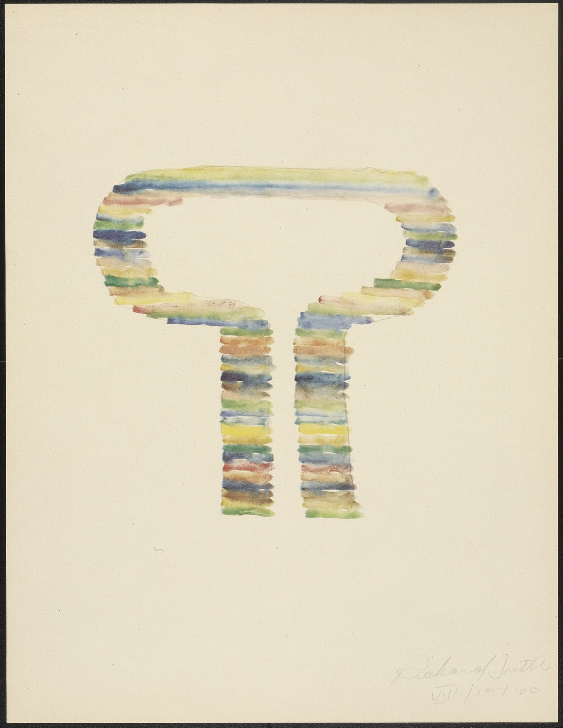 Richard Tuttle. VIII from Stacked Color Drawings, 1971. 1975