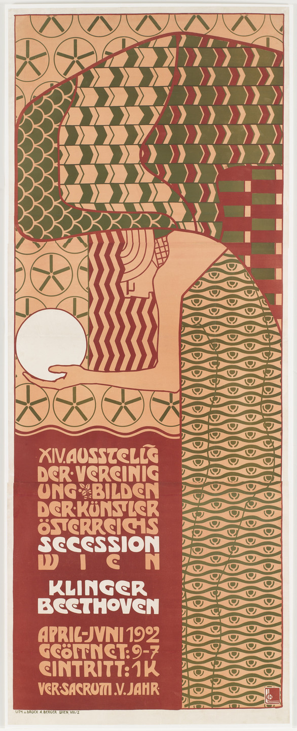 Alfred Roller. Secession XIV, Beethoven (Poster for the 14th Secession exhibition, Vienna). 1902