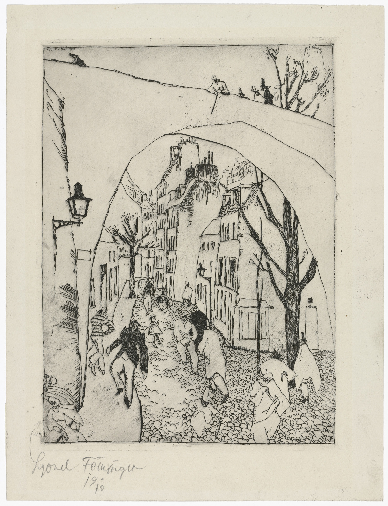 Lyonel Feininger. The Green Bridge (recto); Zirchow (verso). 1910–11 (recto); 1917–18 (verso)