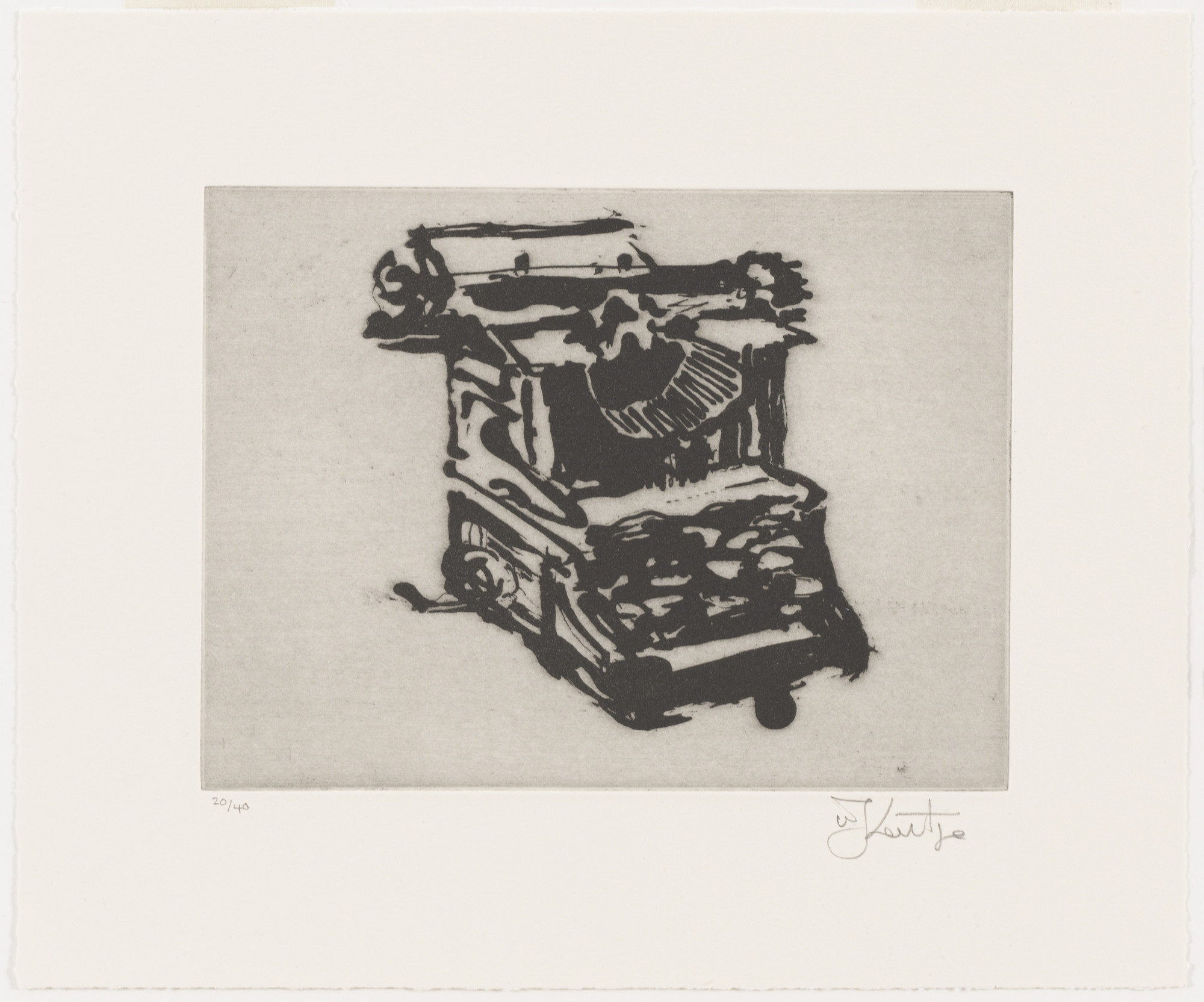 William Kentridge. Typewriter II from Typewriter. 2003