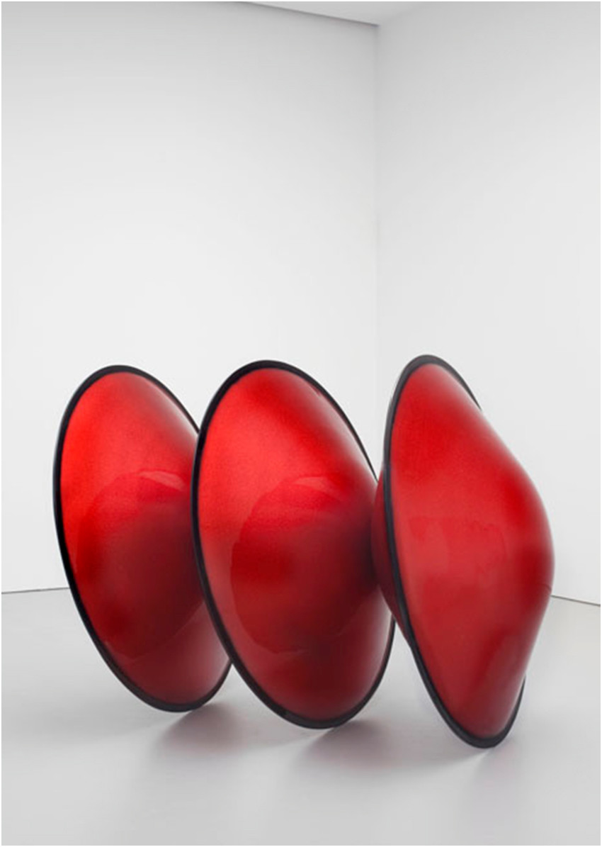 De Wain Valentine. Triple Disk Red Metal Flake - Black Edge. 1966