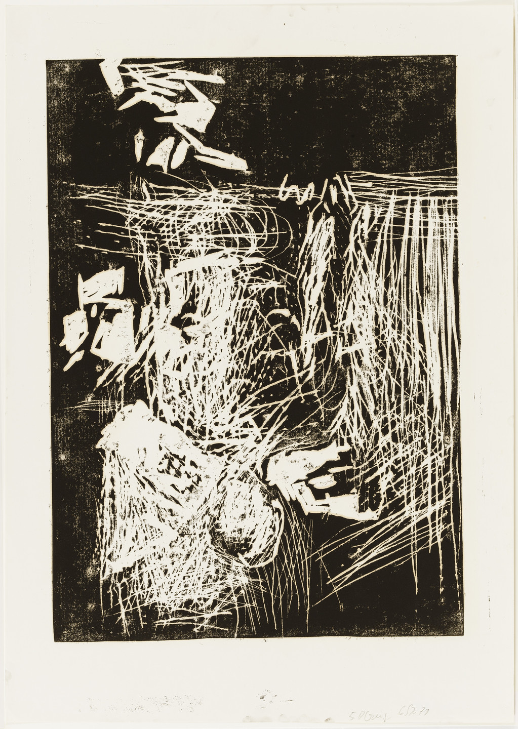 Georg Baselitz. Woman at the Window (Frau am Fenster), state V. 1979