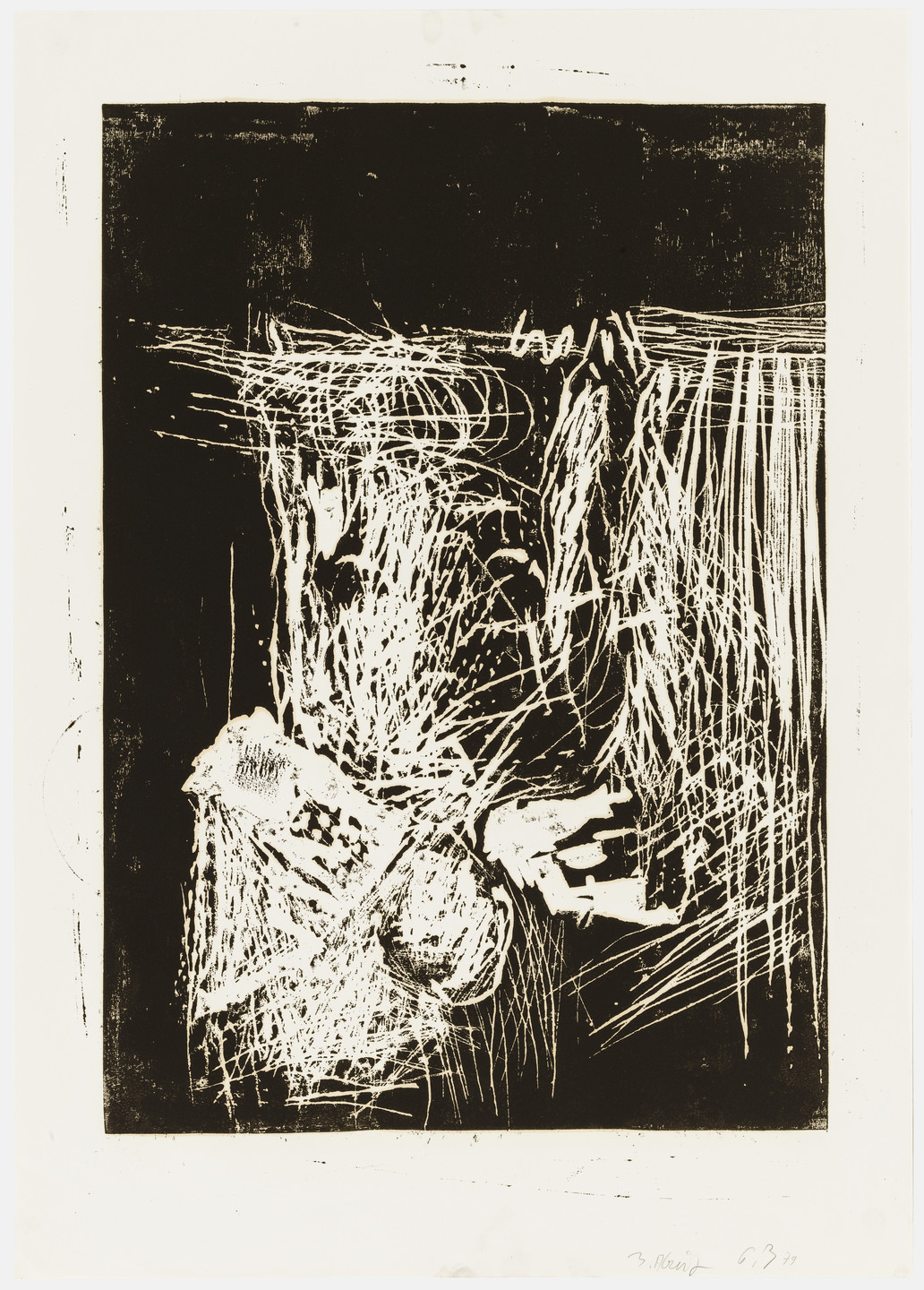 Georg Baselitz. Woman at the Window (Frau am Fenster), state III. 1979