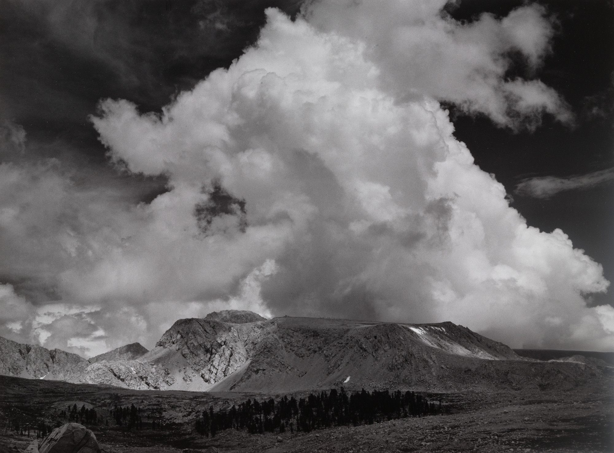 Ansel Adams. Afternoon Clouds near Kings-Kern Divide, Sequoia National Park, California. c. 1936