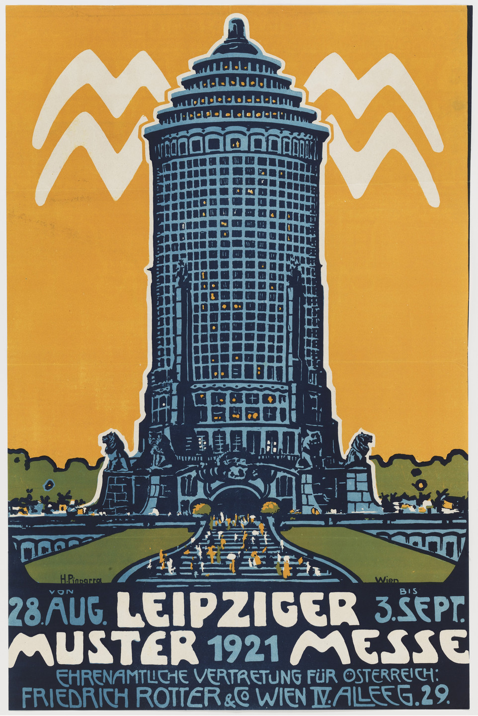 H. Pinparra. Leipziger Mustermesse (Poster for a Leipzig trade fair). 1921