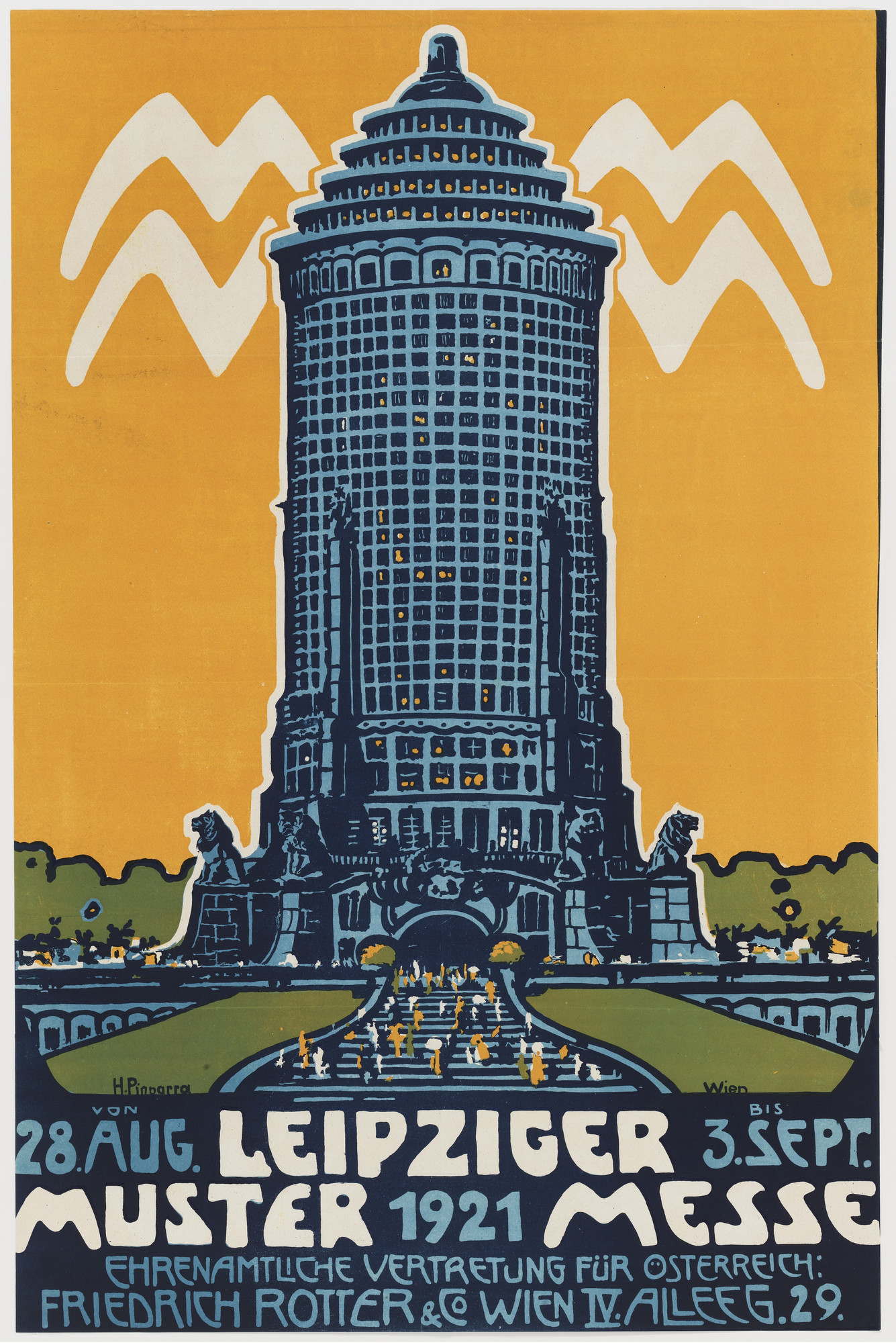 H Pinparra Leipziger Mustermesse Poster For A Leipzig Trade Fair 1921 Moma