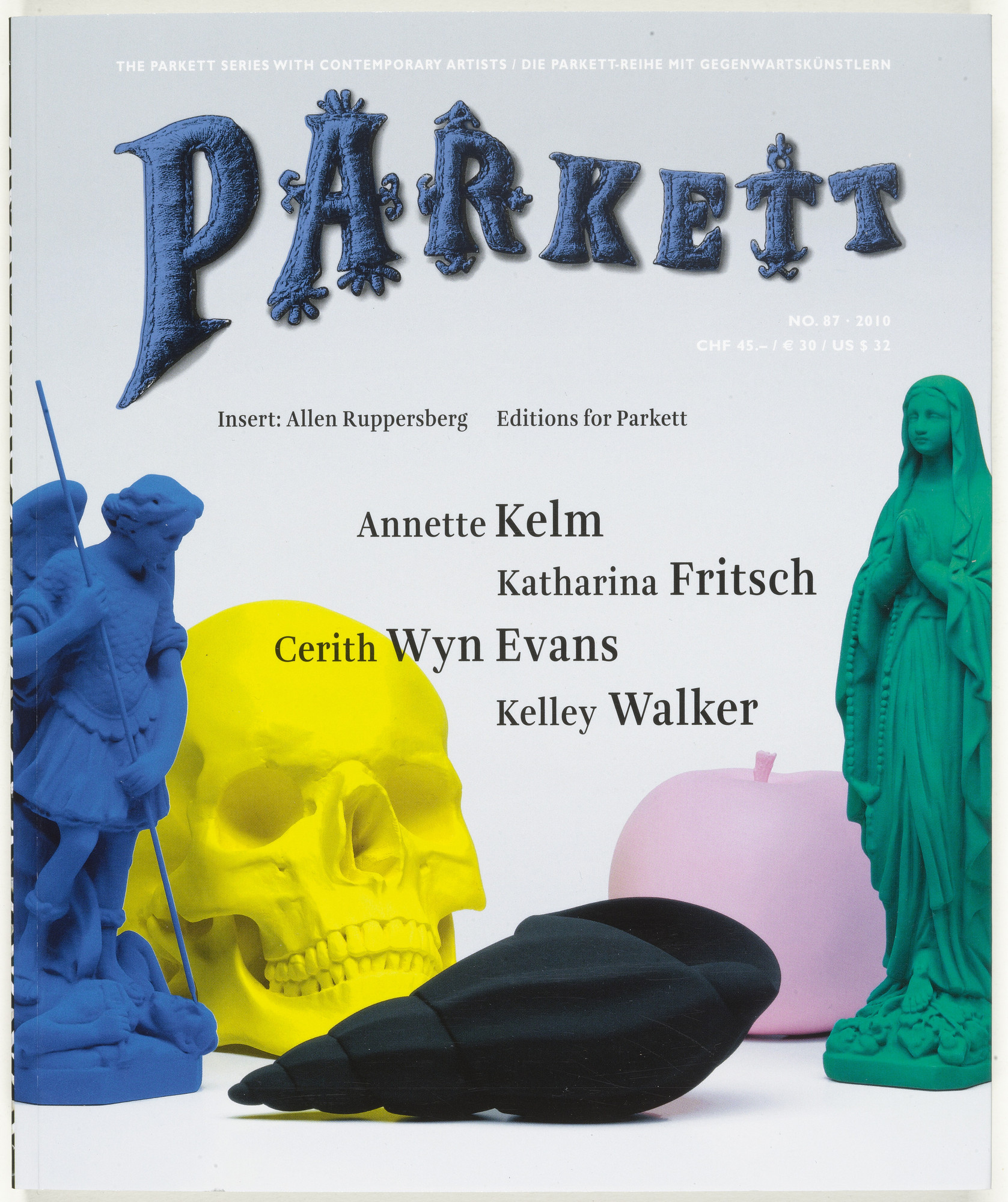 Various Artists, Katharina Fritsch, Annette Kelm, Josh Smith, Kelley Walker, Cerith Wyn Evans. Parkett no. 87. 2010