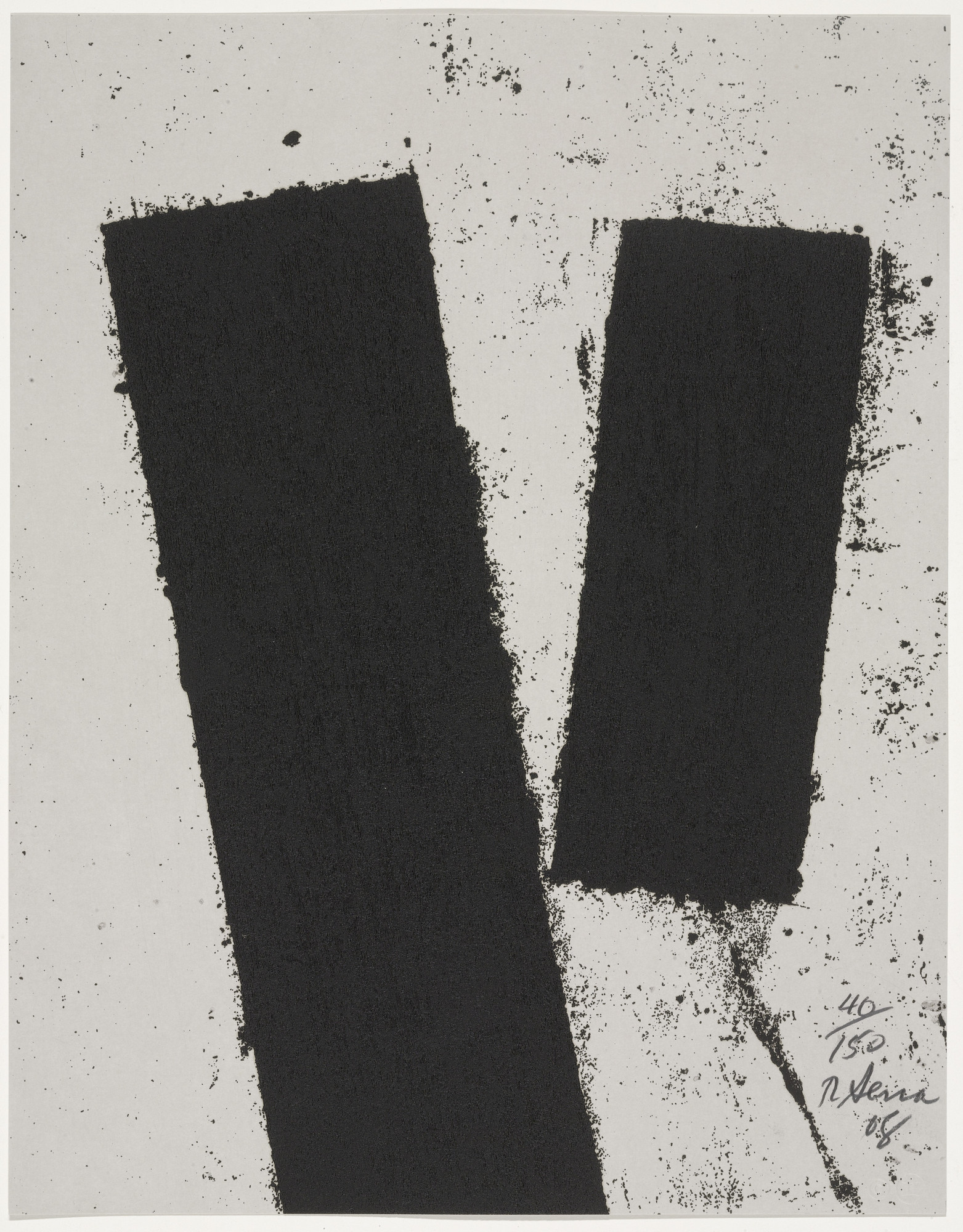 Richard Serra. Promenade Notebook Drawing for Obama from Artists for Obama. 2008