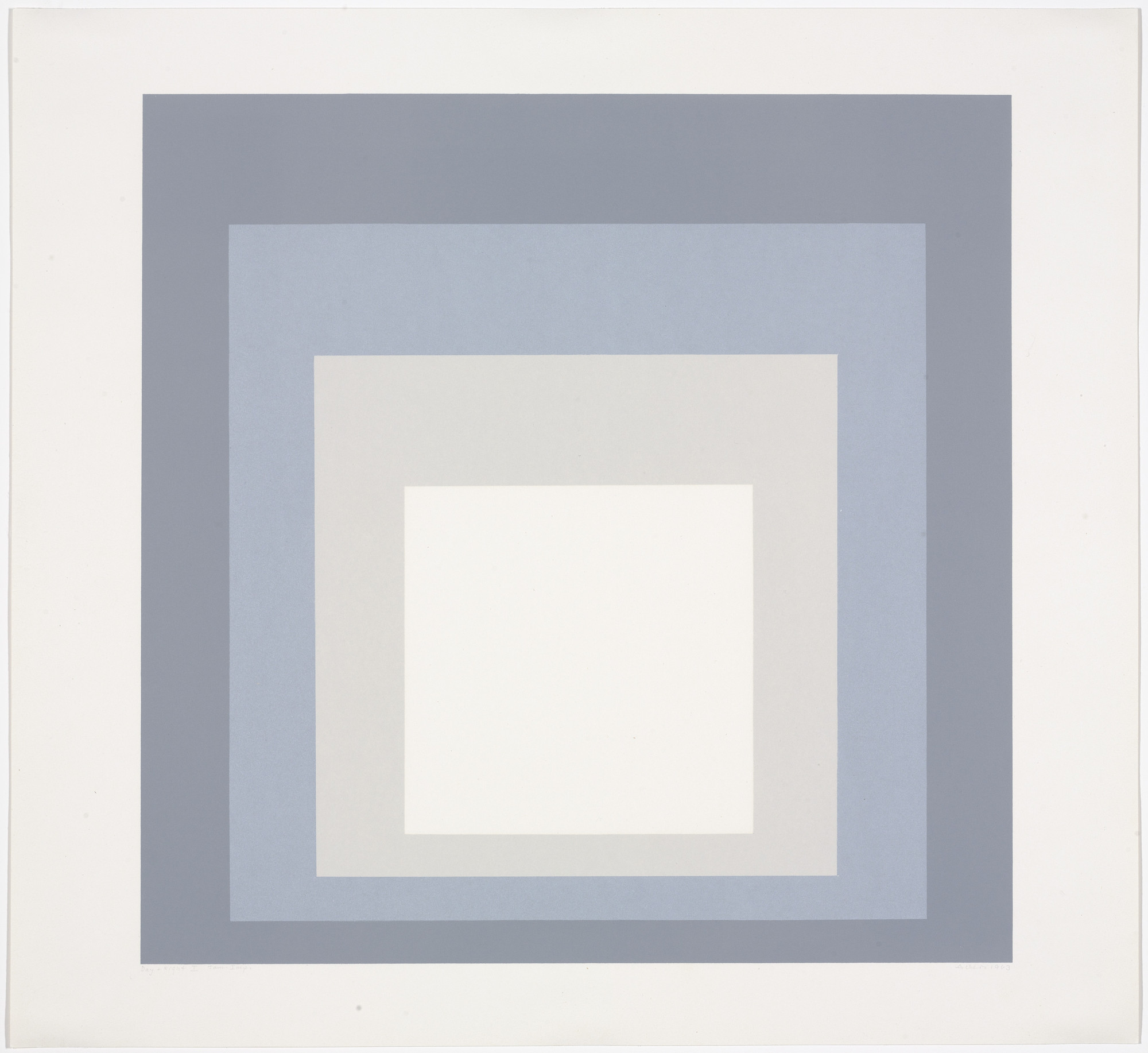 Josef Albers. Day + Night I from Day and Night: Homage to the Square. 1963