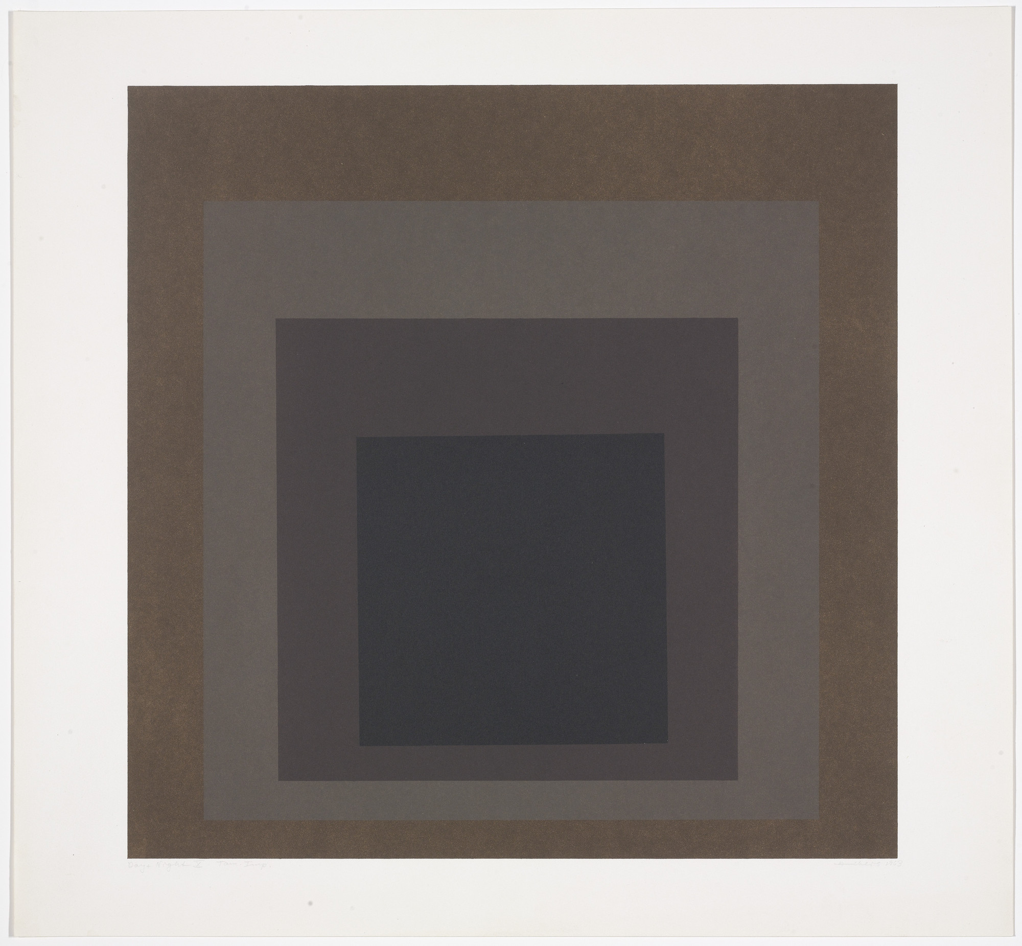 Josef Albers. Day + Night X from Day and Night: Homage to the Square. 1963