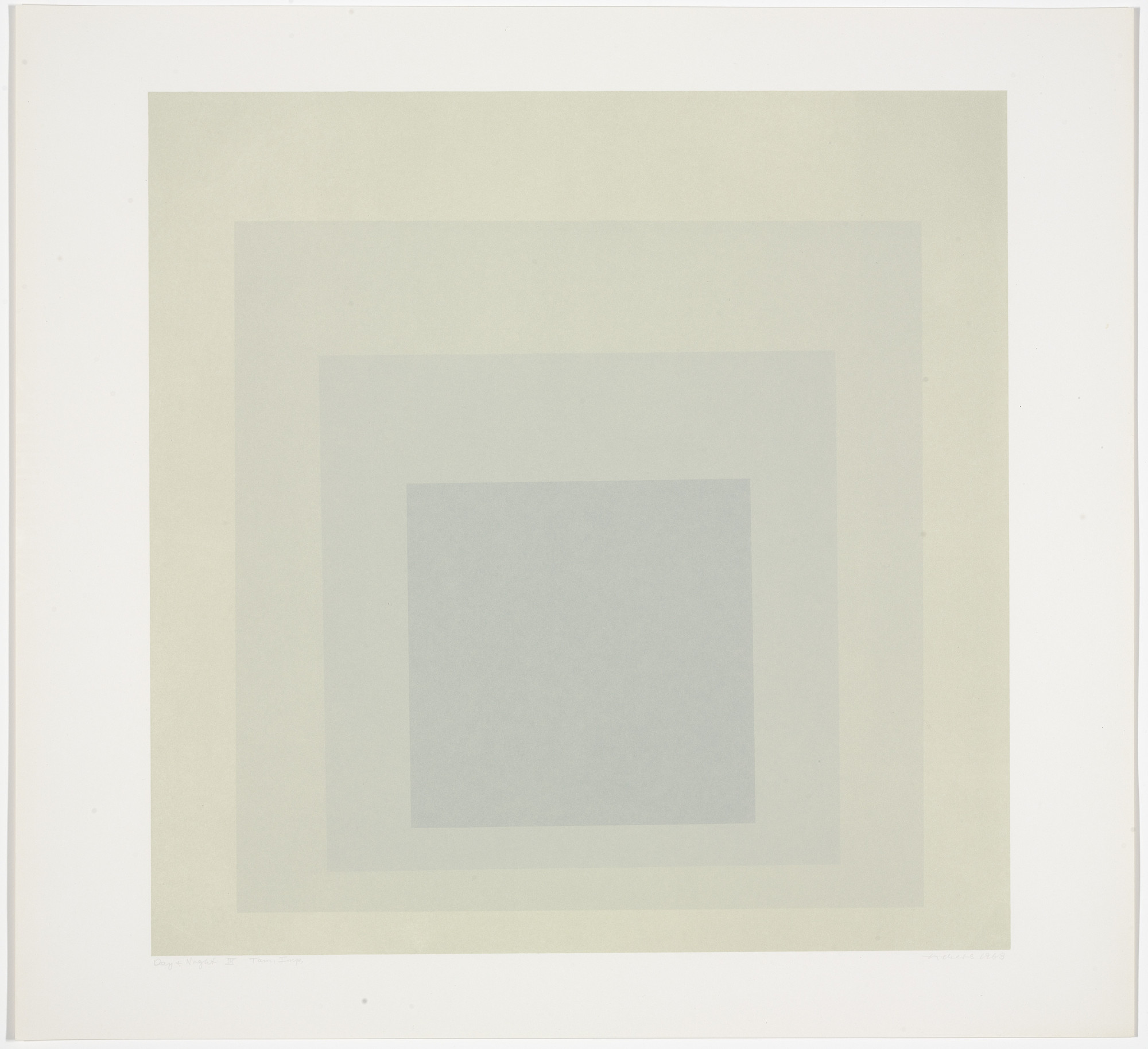Josef Albers. Day + Night III from Day and Night: Homage to the Square. 1963