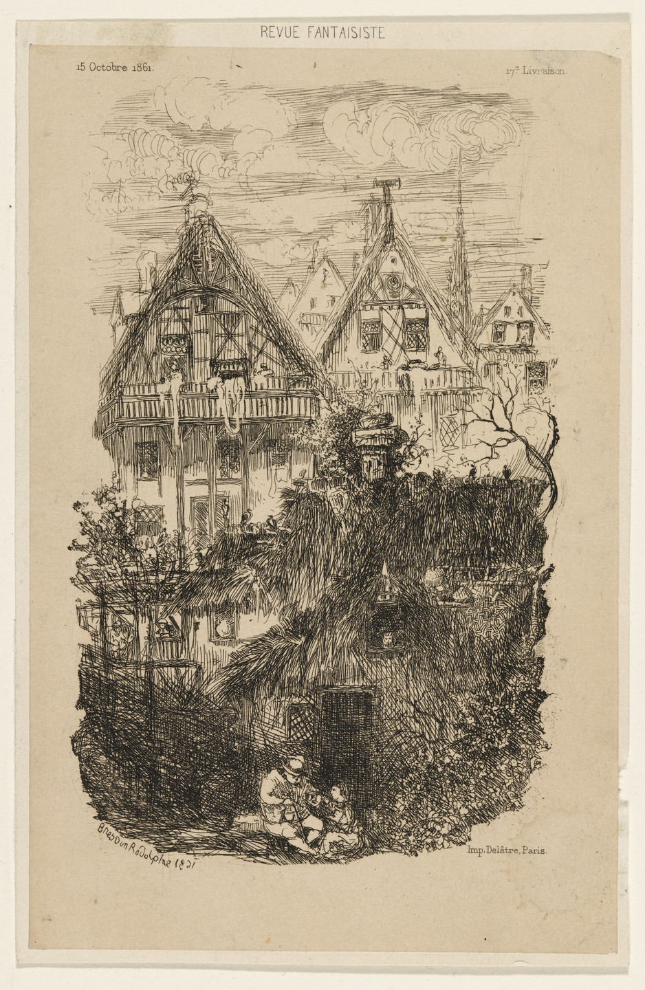 Rodolphe Bresdin. The Wooden House. 1861