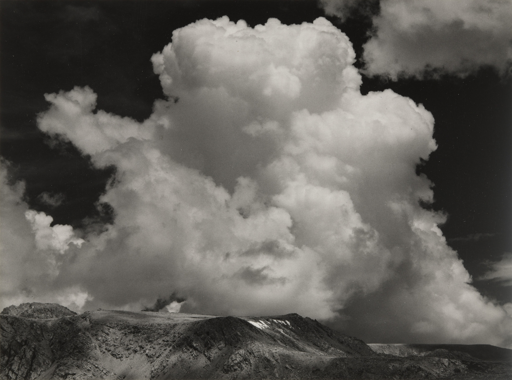 Ansel Adams. Clouds, Sierra Nevada, California. 1936