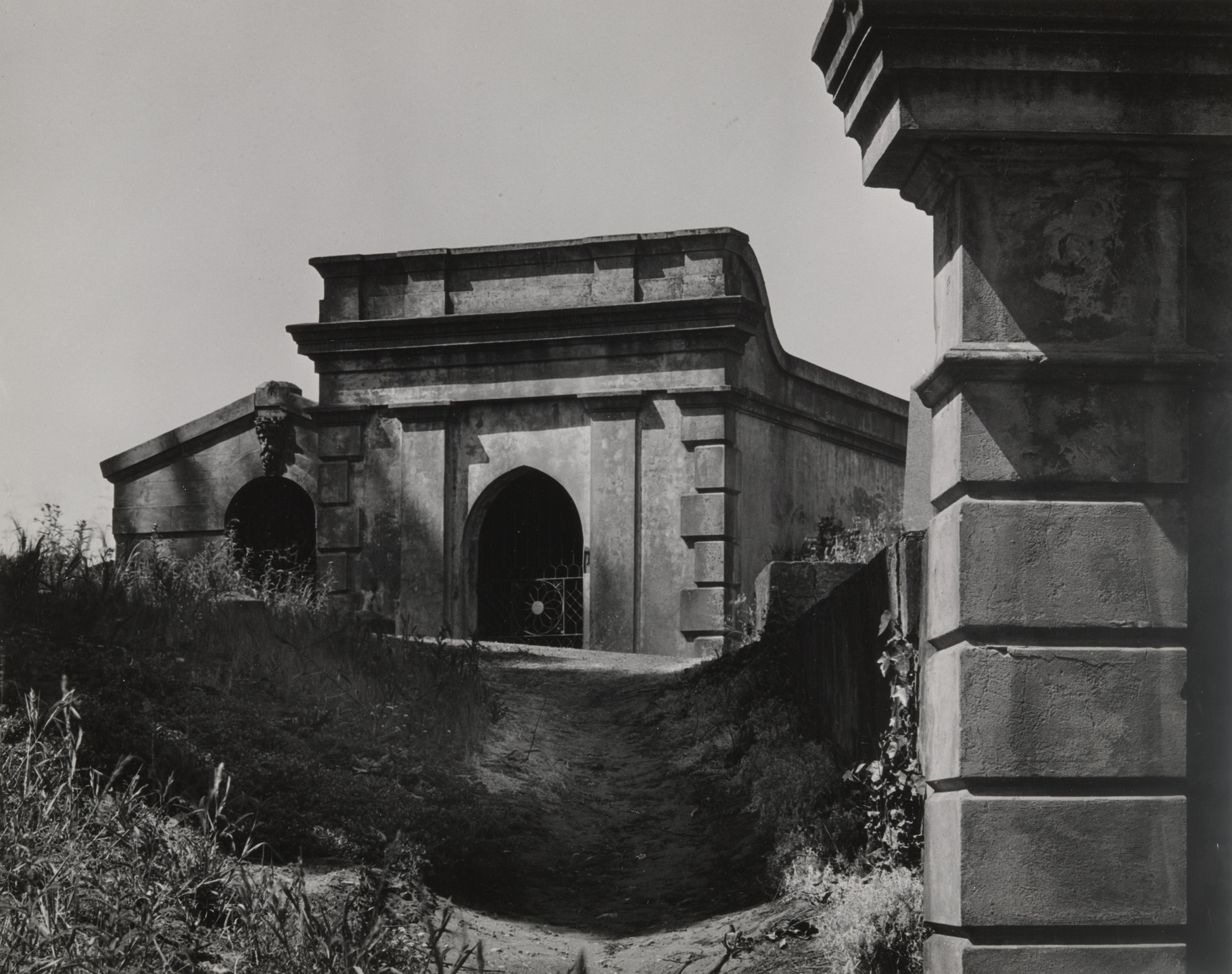 Ansel Adams. Architecture, Early California Cemetery, San Francisco. 1934