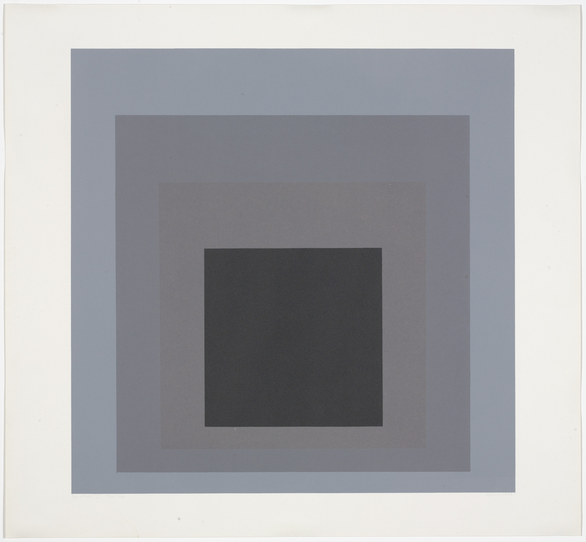 Josef Albers. Day + Night V from Day and Night: Homage to the Square. 1963