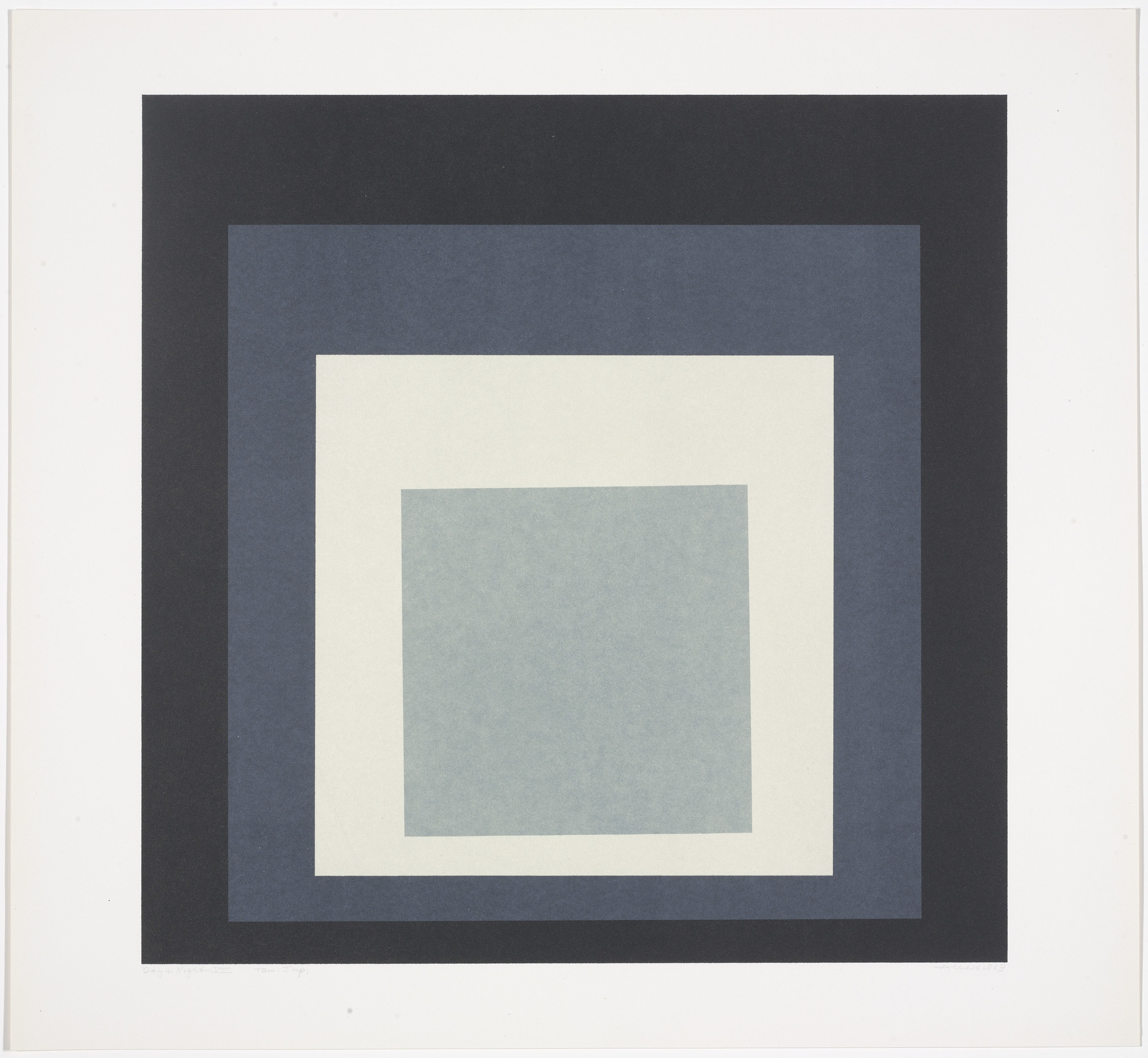 Josef Albers. Day + Night VIII from Day and Night: Homage to the Square. 1963
