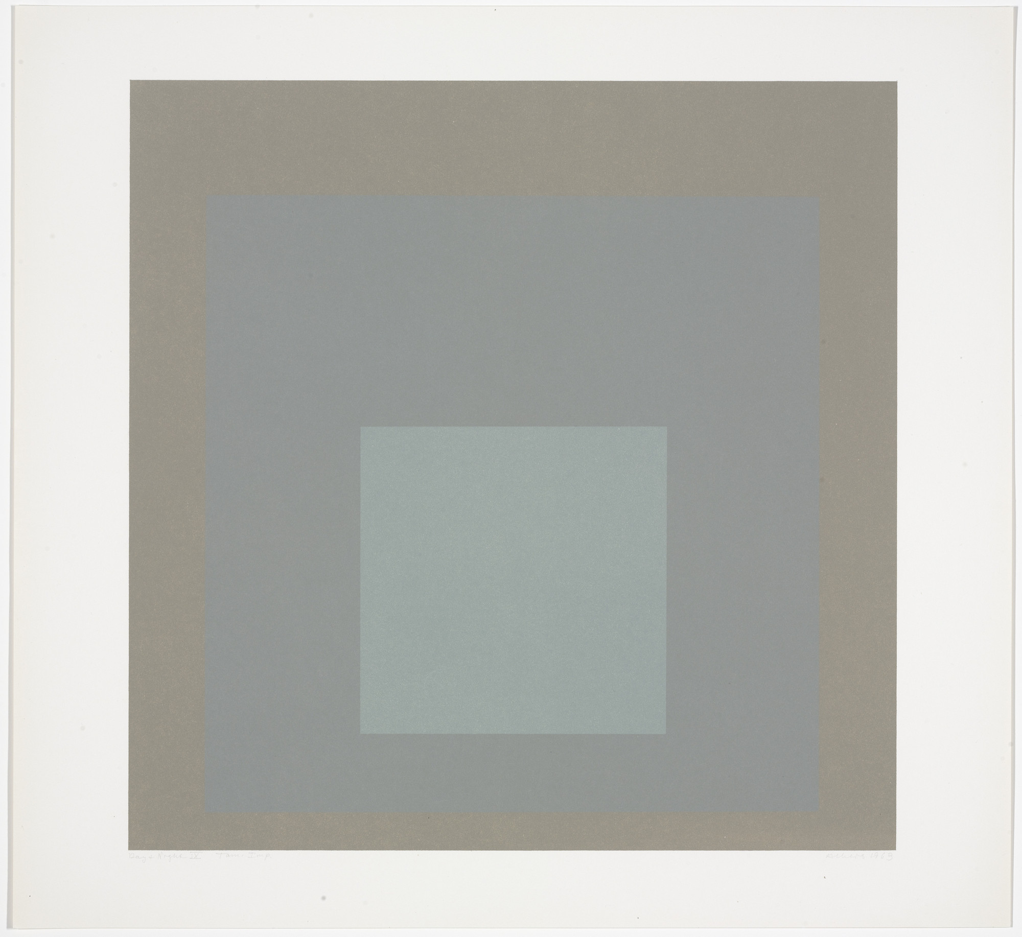 Josef Albers. Day + Night IX from Day and Night: Homage to the Square. 1963