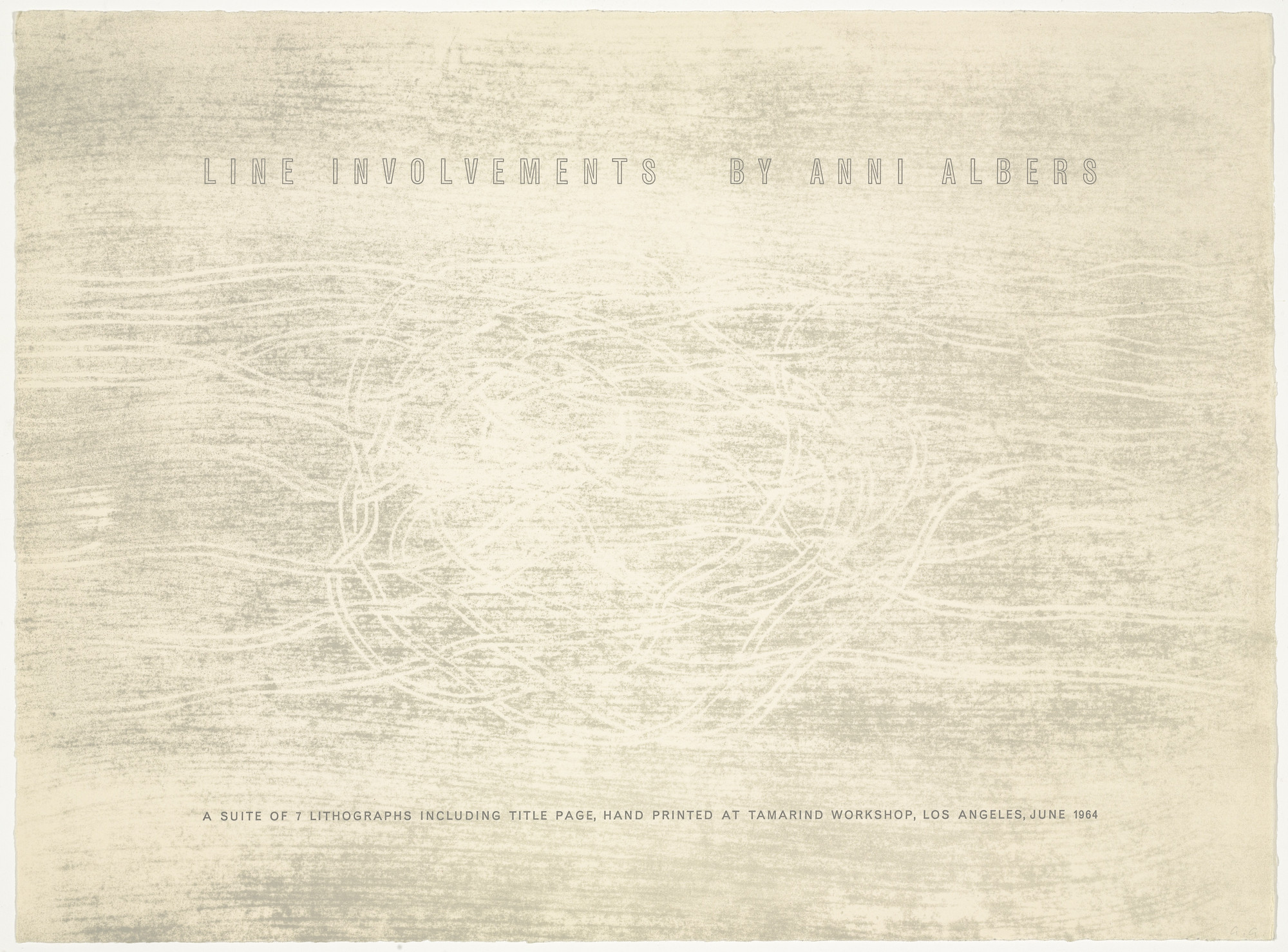 Anni Albers. Title page Line Involvements. 1964