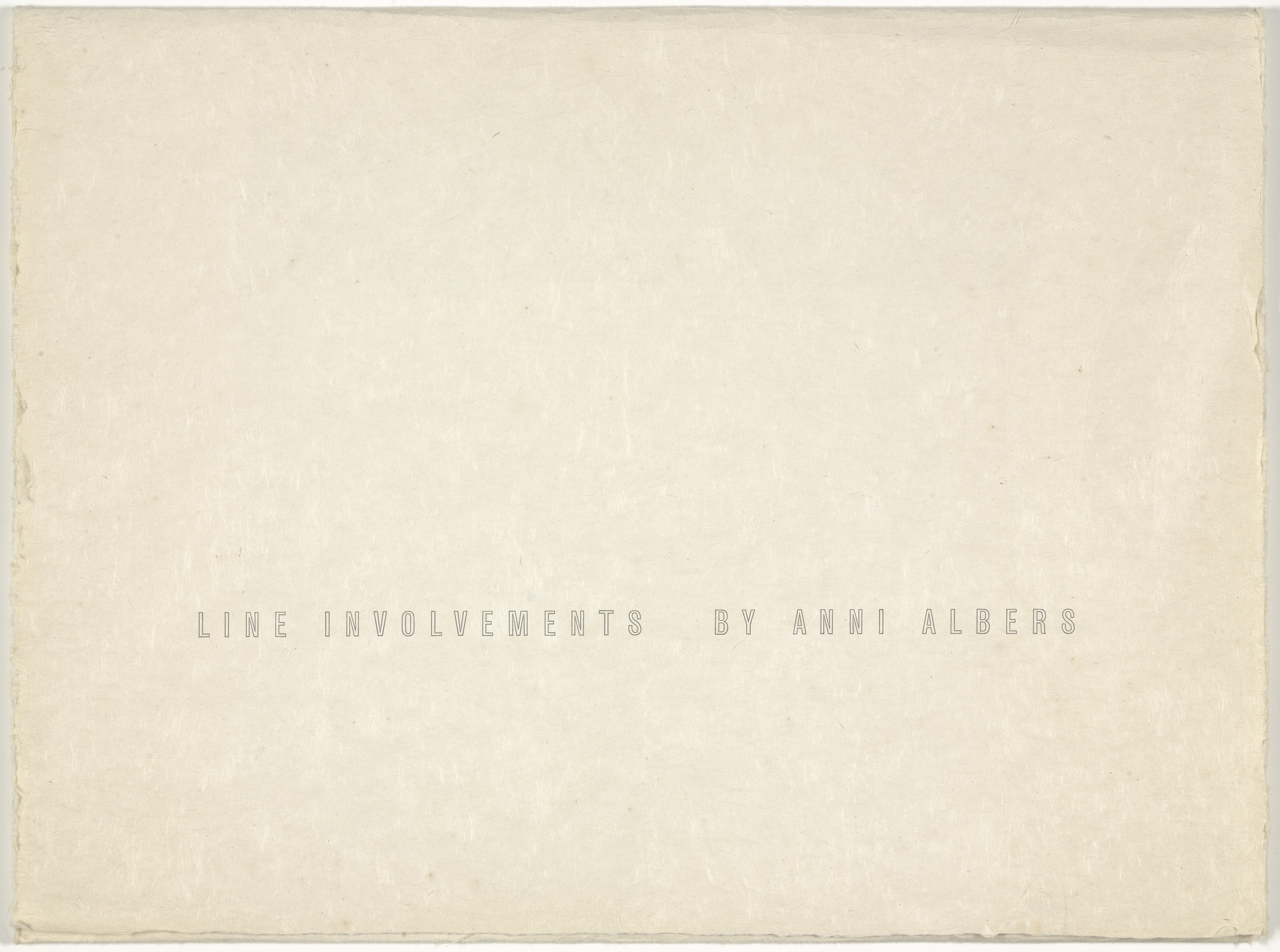 Anni Albers. Line Involvements. 1964