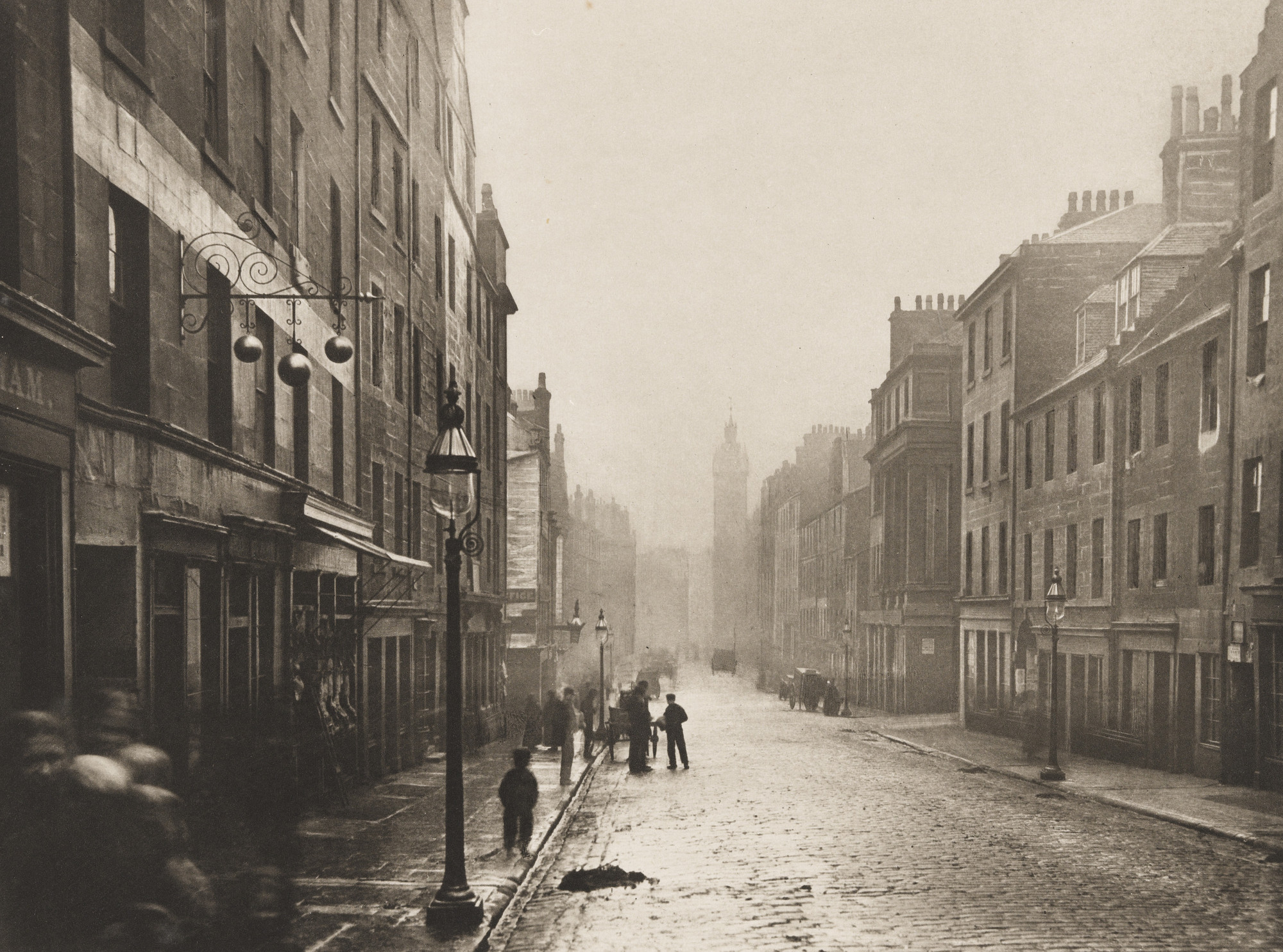 Thomas Annan. High Street from College Open. 1868