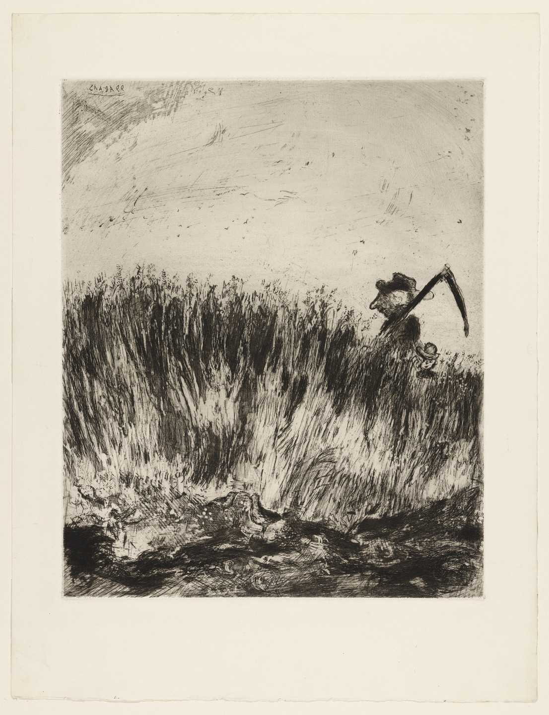 Marc Chagall. The Lark and the Farmer. 1927